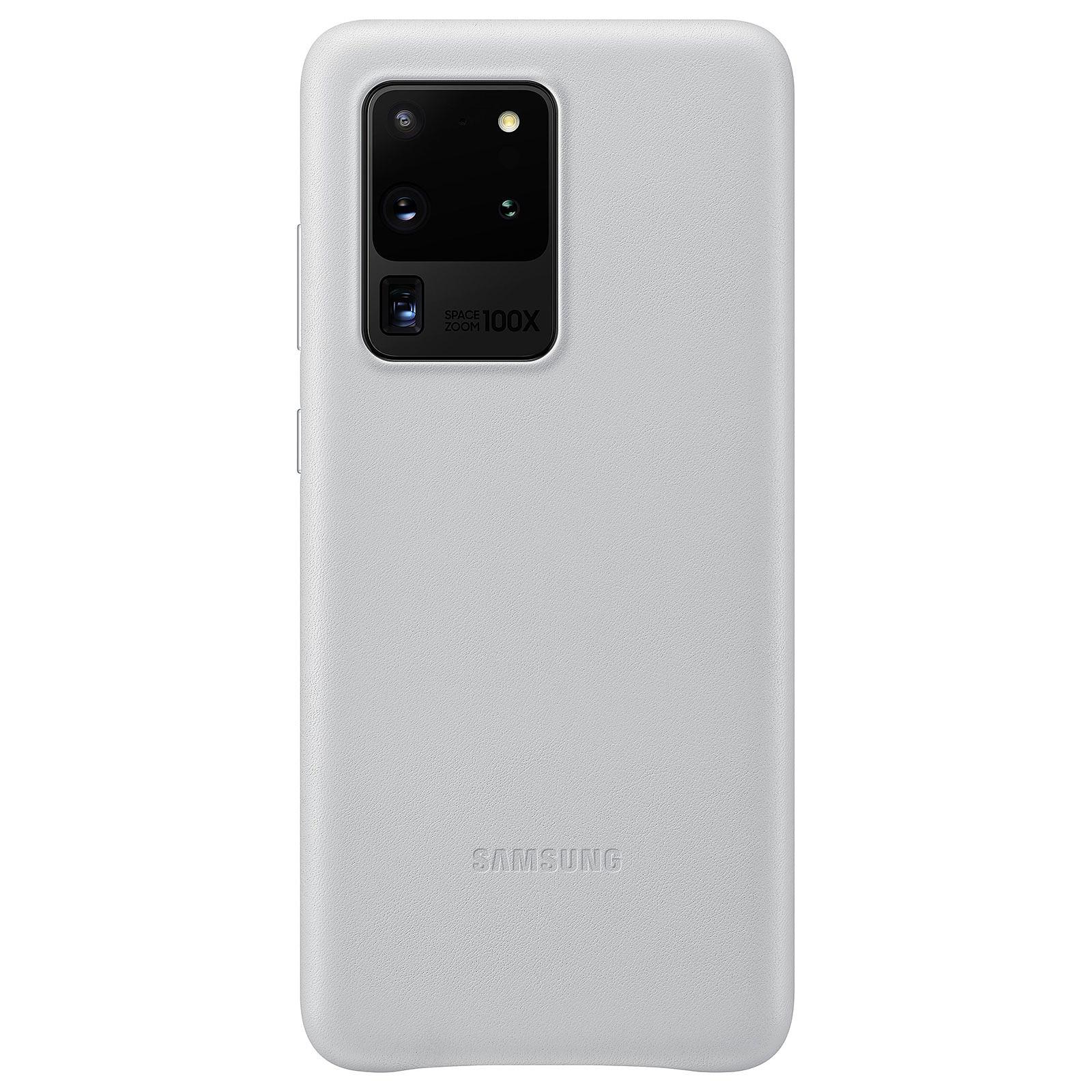 Samsung Coque Cuir Gris Clair Samsung Galaxy S20 Ultra