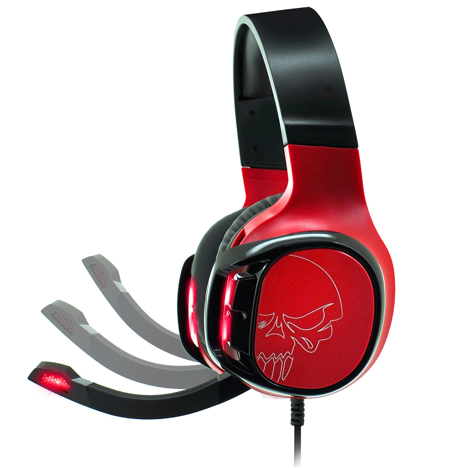 casque spirit of gamer rgb rouge