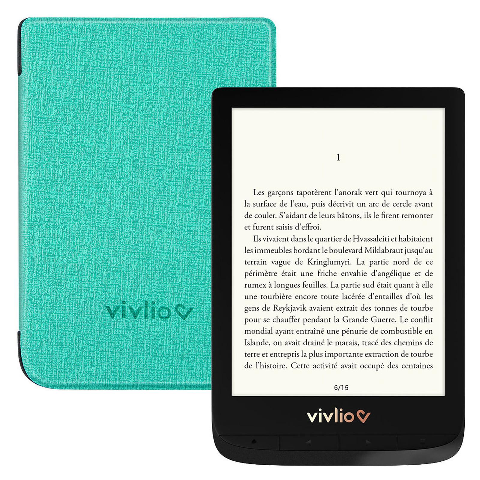 Vivlio Touch Lux 4 Noir + Pack d'eBooks OFFERT + Housse Chinée Verte