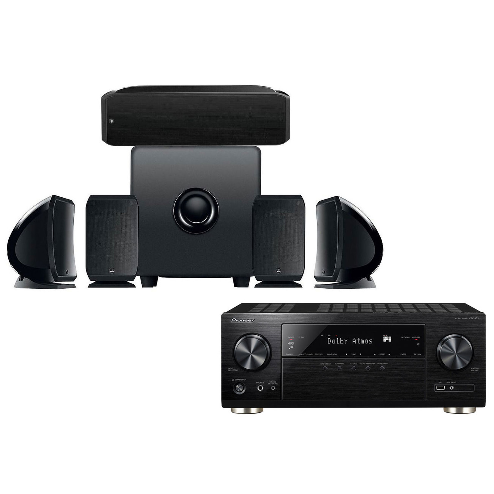 Pioneer VSX-933 Noir + Focal Pack Cinema+