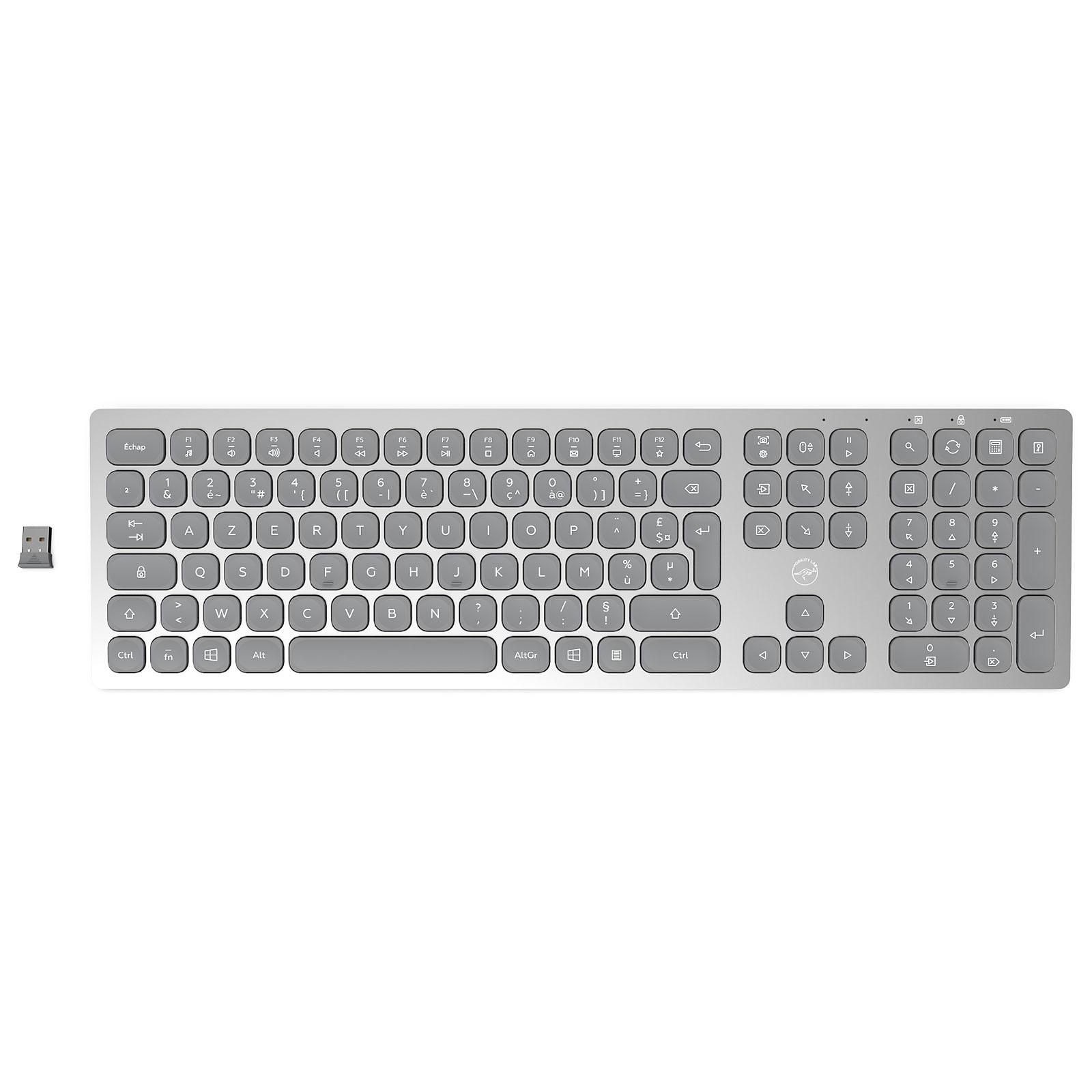 Mobility Lab Premium Wireless Slim Keyboard (Gris Clair)