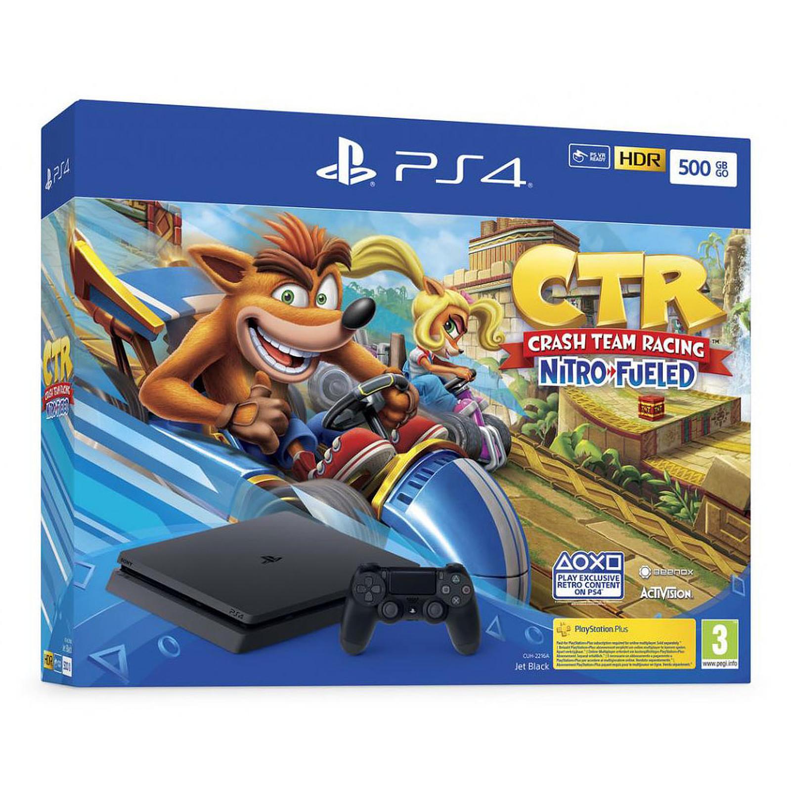 Sony PlayStation 4 Slim (500 Go) + Crash Team Racing Nitro-Fueled