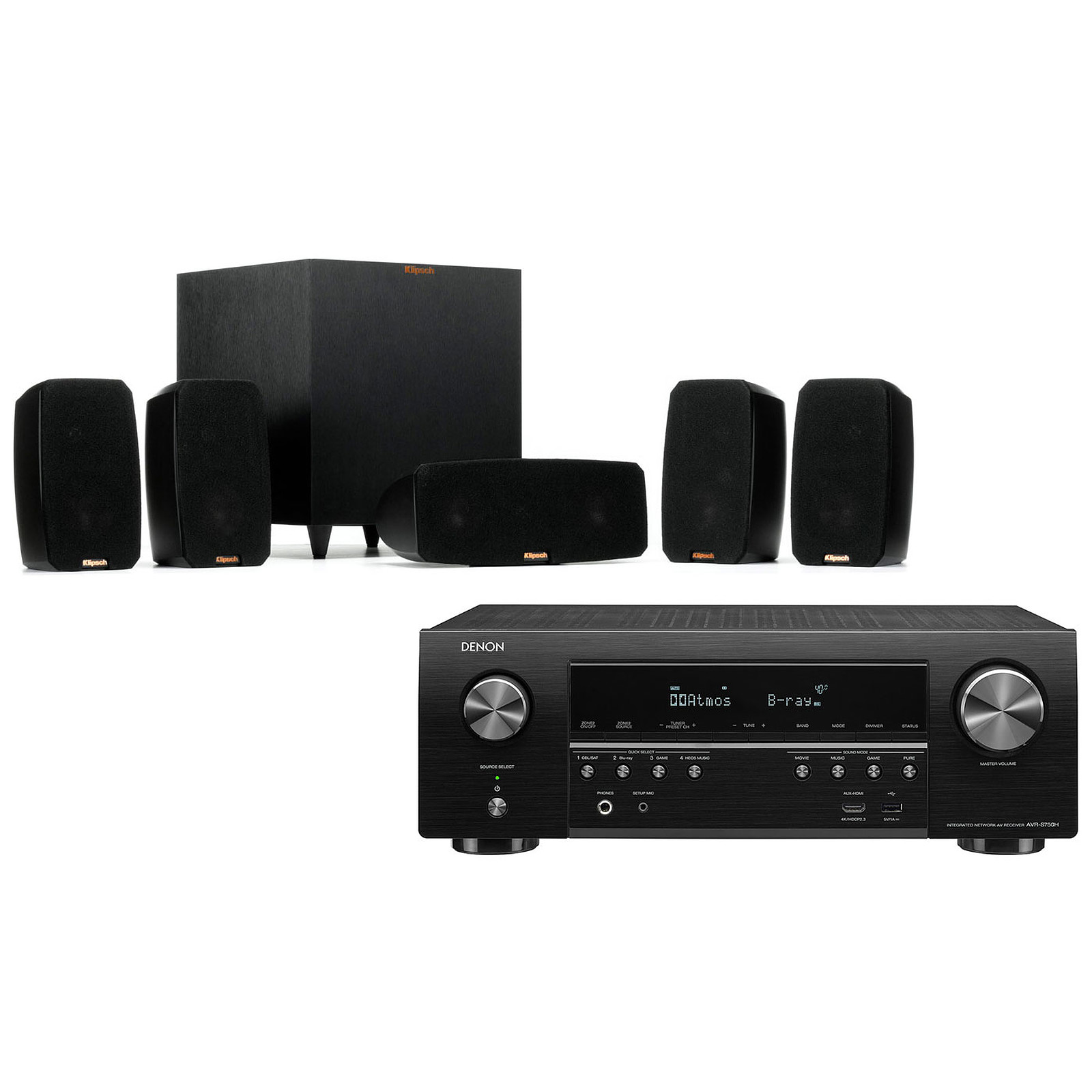 Denon AVR-S750H + Klipsch Reference Theater Pack