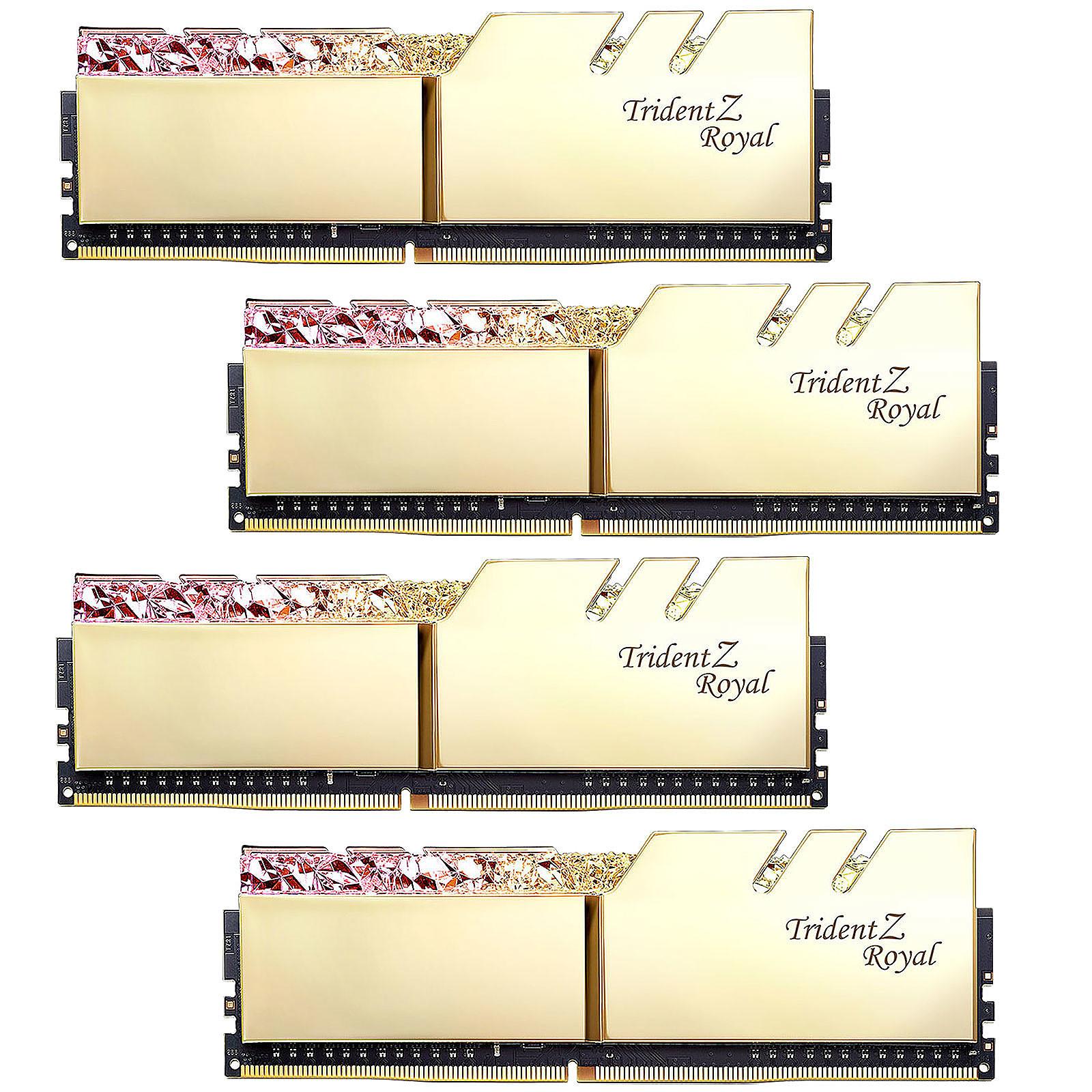 G.Skill Trident Z Royal 128 Go (4 x 32 Go) DDR4 3600 MHz CL18 - Or