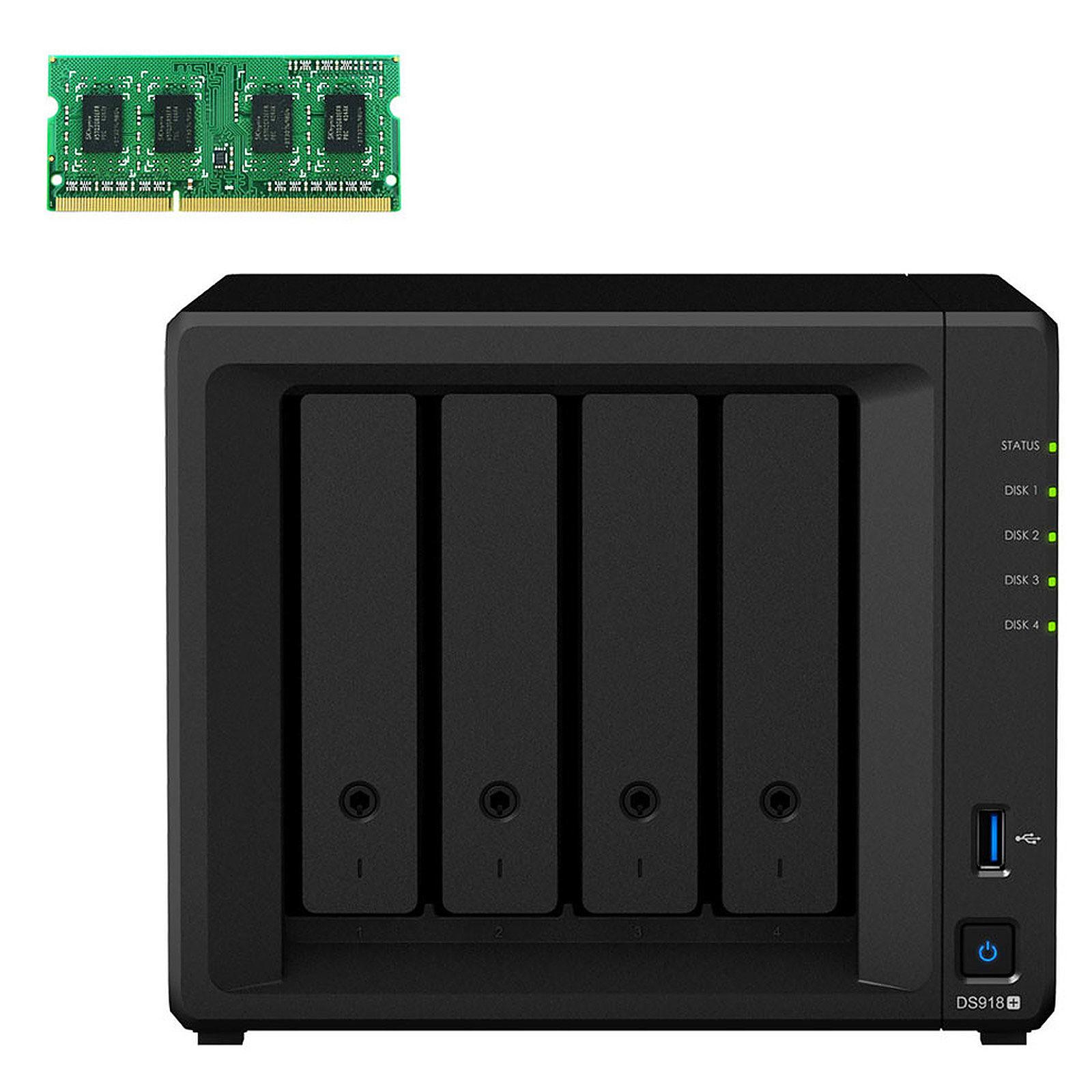 Synology DiskStation DS918+ + 4 Go de RAM (D3NS1866L-4G)
