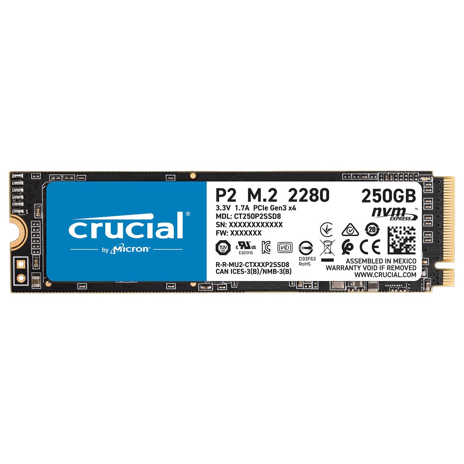 Crucial P2 M.2 PCIe NVMe 250 Go