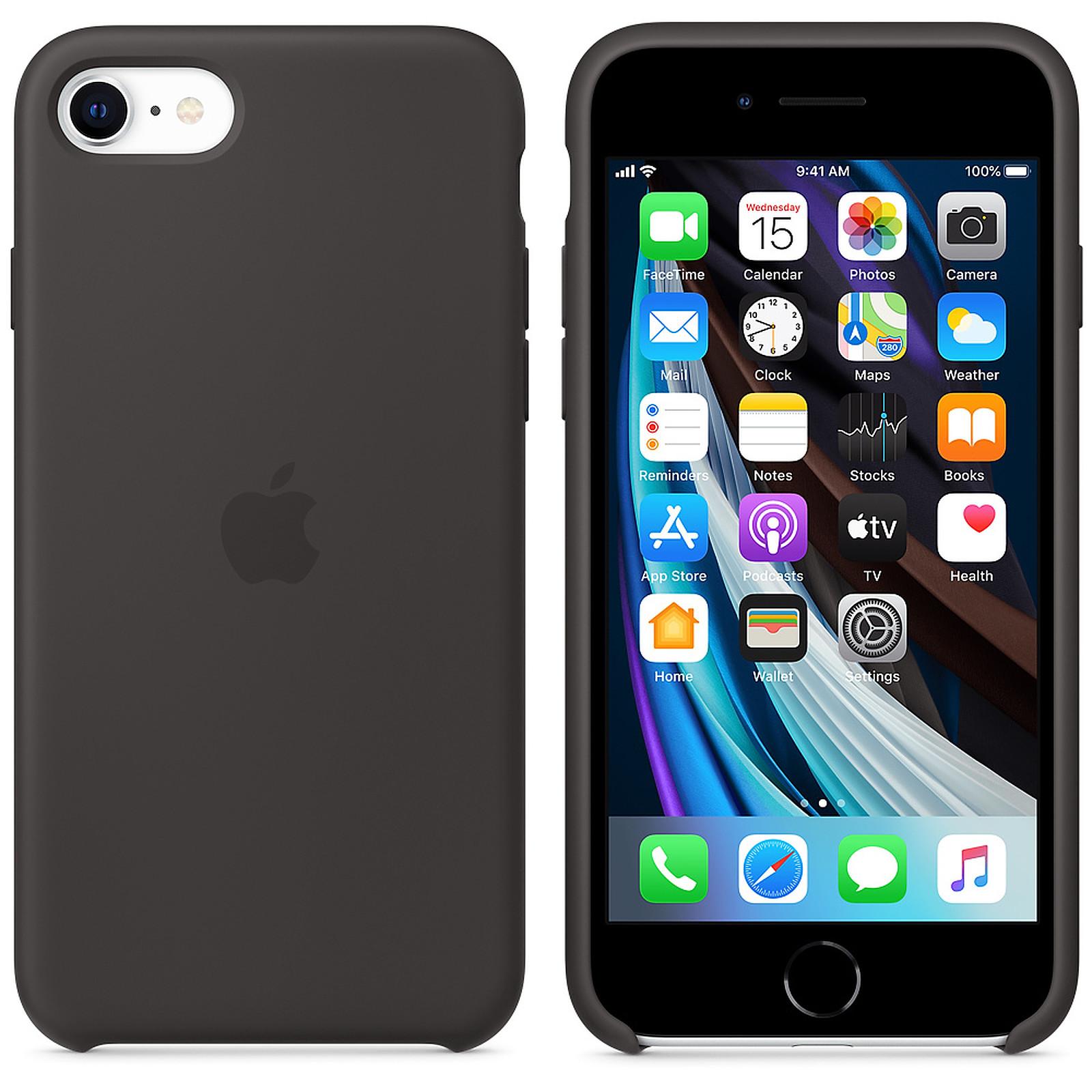 Apple Coque en silicone Noir Apple iPhone SE