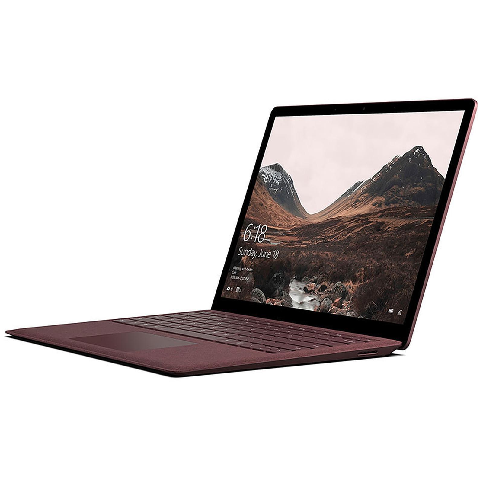 Microsoft Surface Laptop - Intel Core i7 - 8 Go - SSD 256 Go - Bordeaux - Windows 10 Pro · Reconditionné