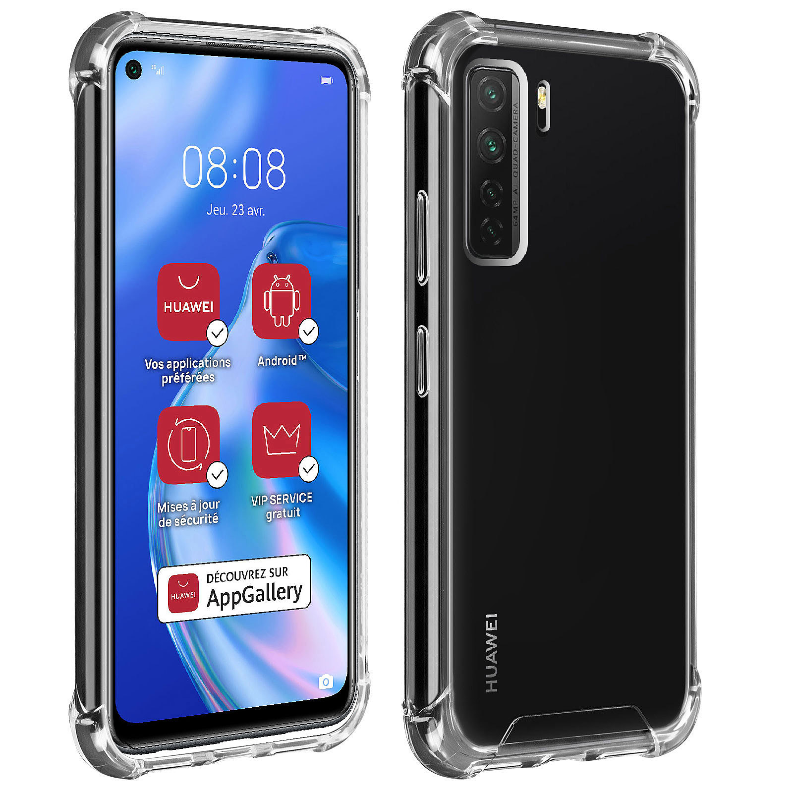 Akashi Coque TPU Angles Renforcés Huawei P40 Lite 5G