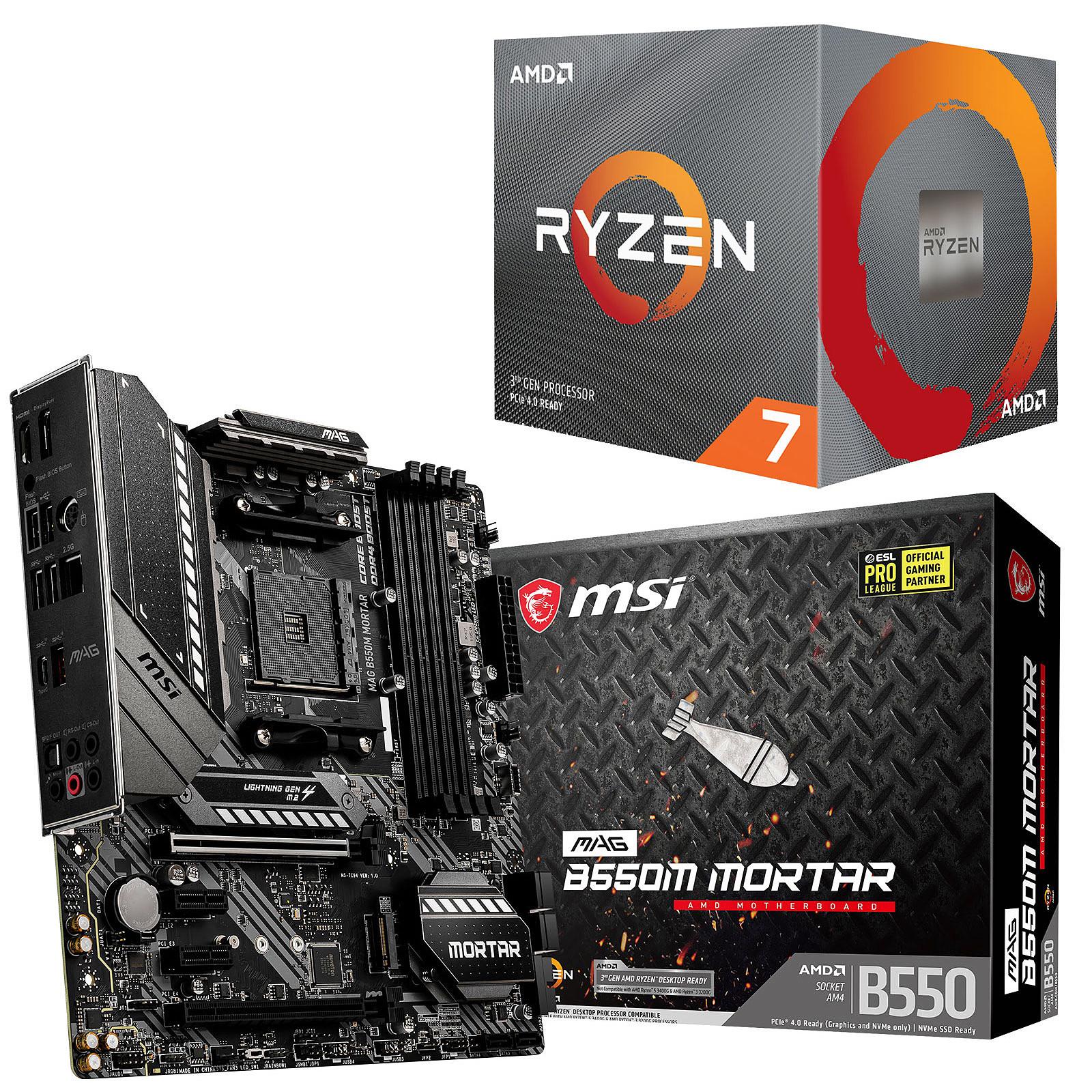 Kit Upgrade PC AMD Ryzen 7 3700X MSI MAG B550M MORTAR