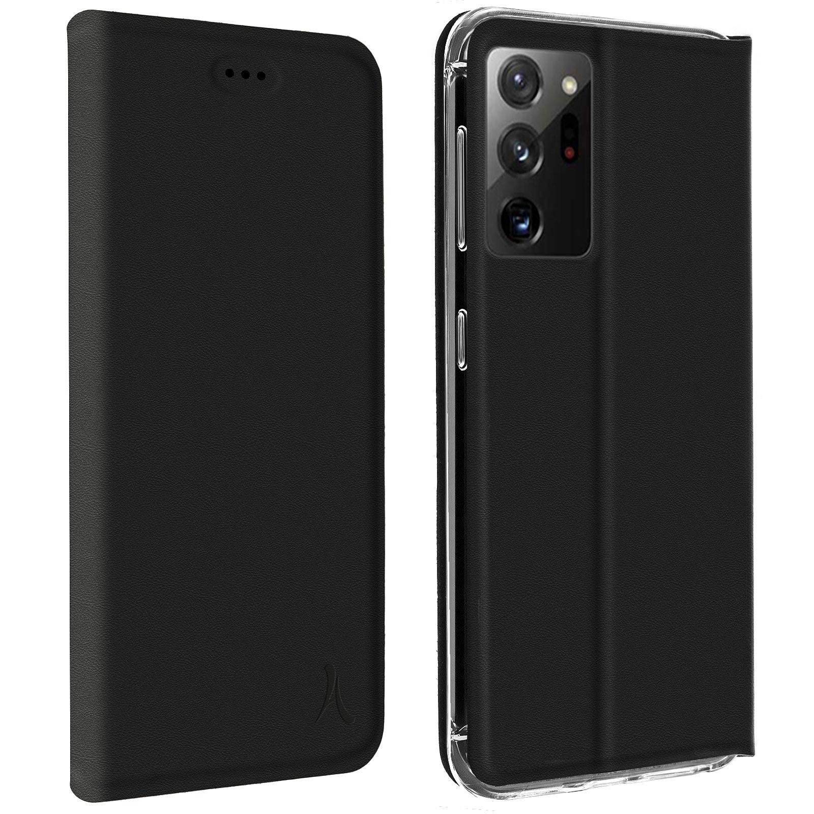 Akashi Etui Folio Porte Carte Noir Samsung Galaxy Note 20 Ultra