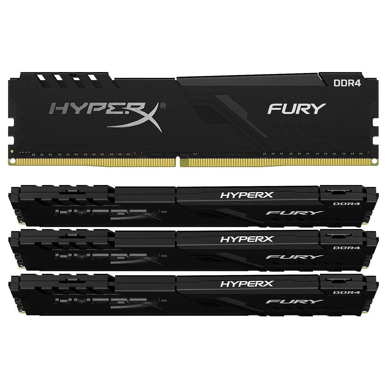 HyperX Fury 128 Go (4 x 32 Go) DDR4 3600 MHz CL18