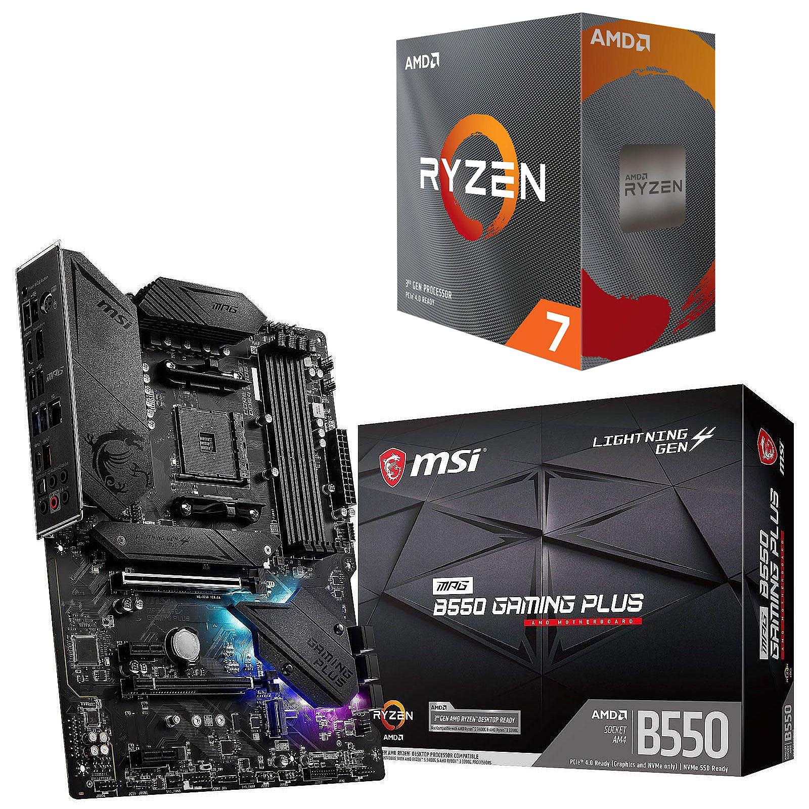 Kit Upgrade PC AMD Ryzen 7 3800XT MSI MPG B550 GAMING PLUS