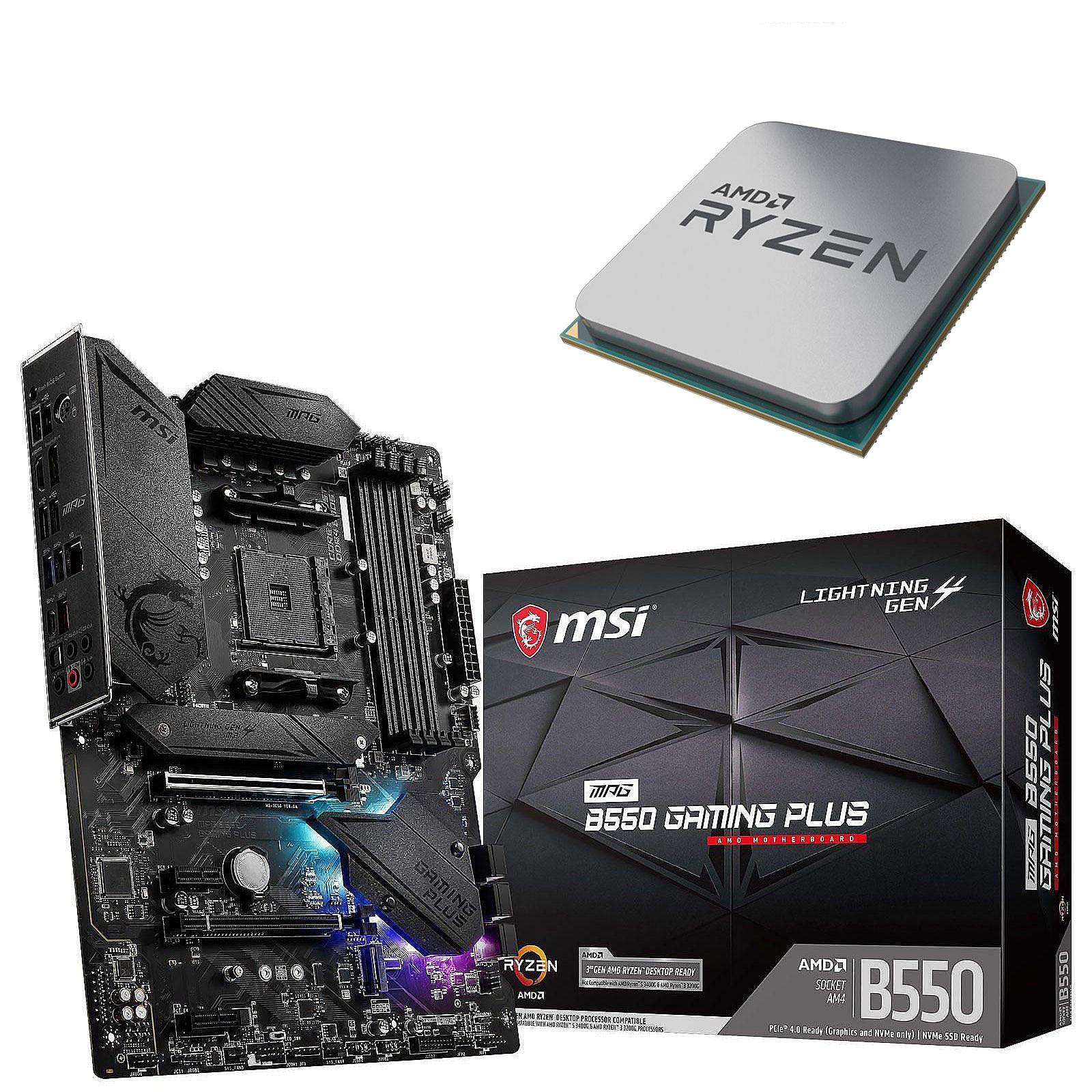 Kit UpgradePC AMD Ryzen 7 3800X MSI MPG B550 GAMING PLUS