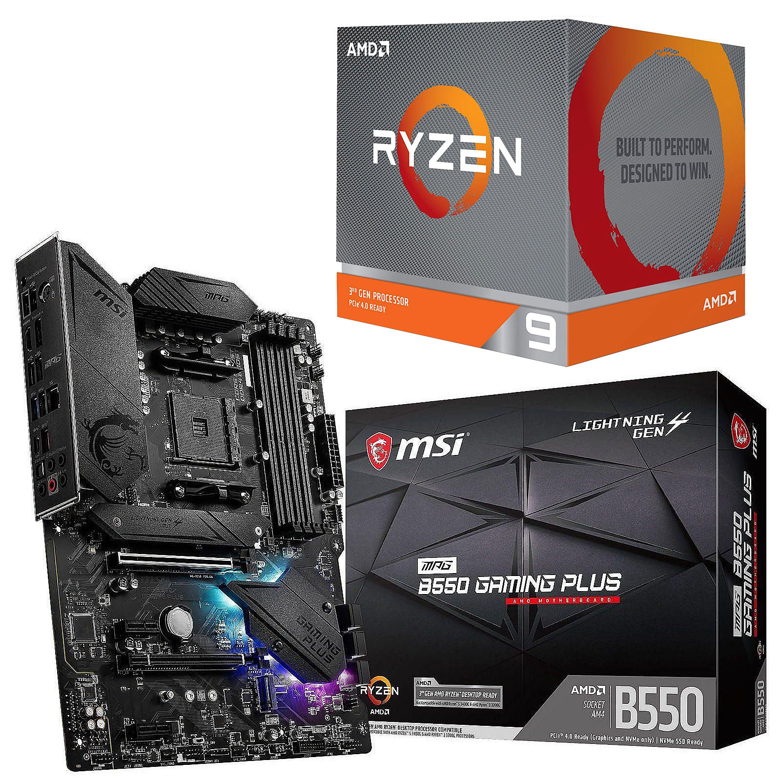 Kit Upgrade PC AMD Ryzen 9 3950X MSI MPG B550 GAMING PLUS