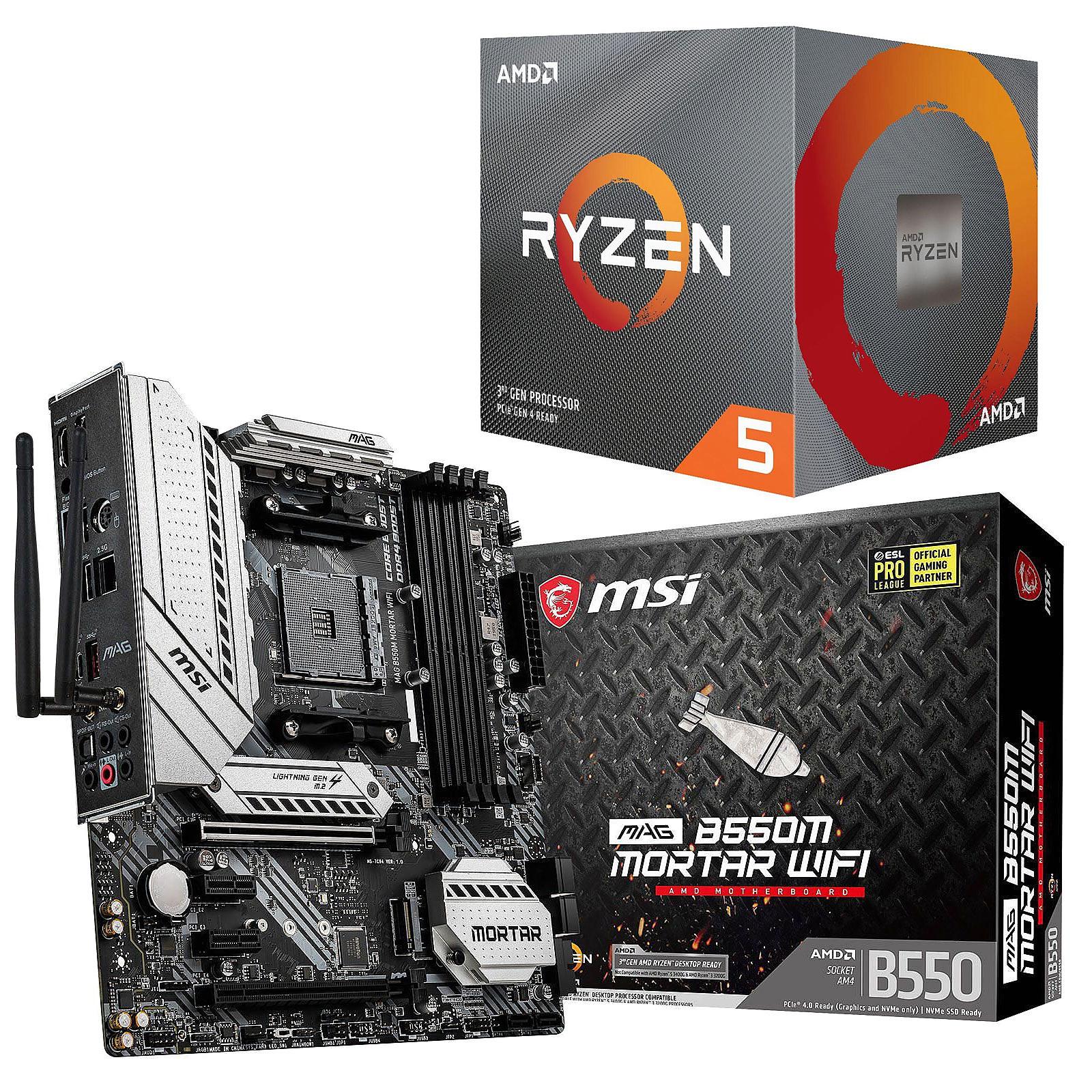 Kit Upgrade PC AMD Ryzen 5 3600X MSI MAG B550M MORTAR WIFI