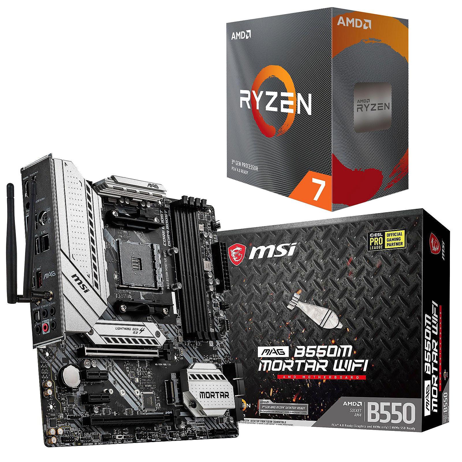 Kit Upgrade PC AMD Ryzen 7 3800XT MSI MAG B550M MORTAR WIFI