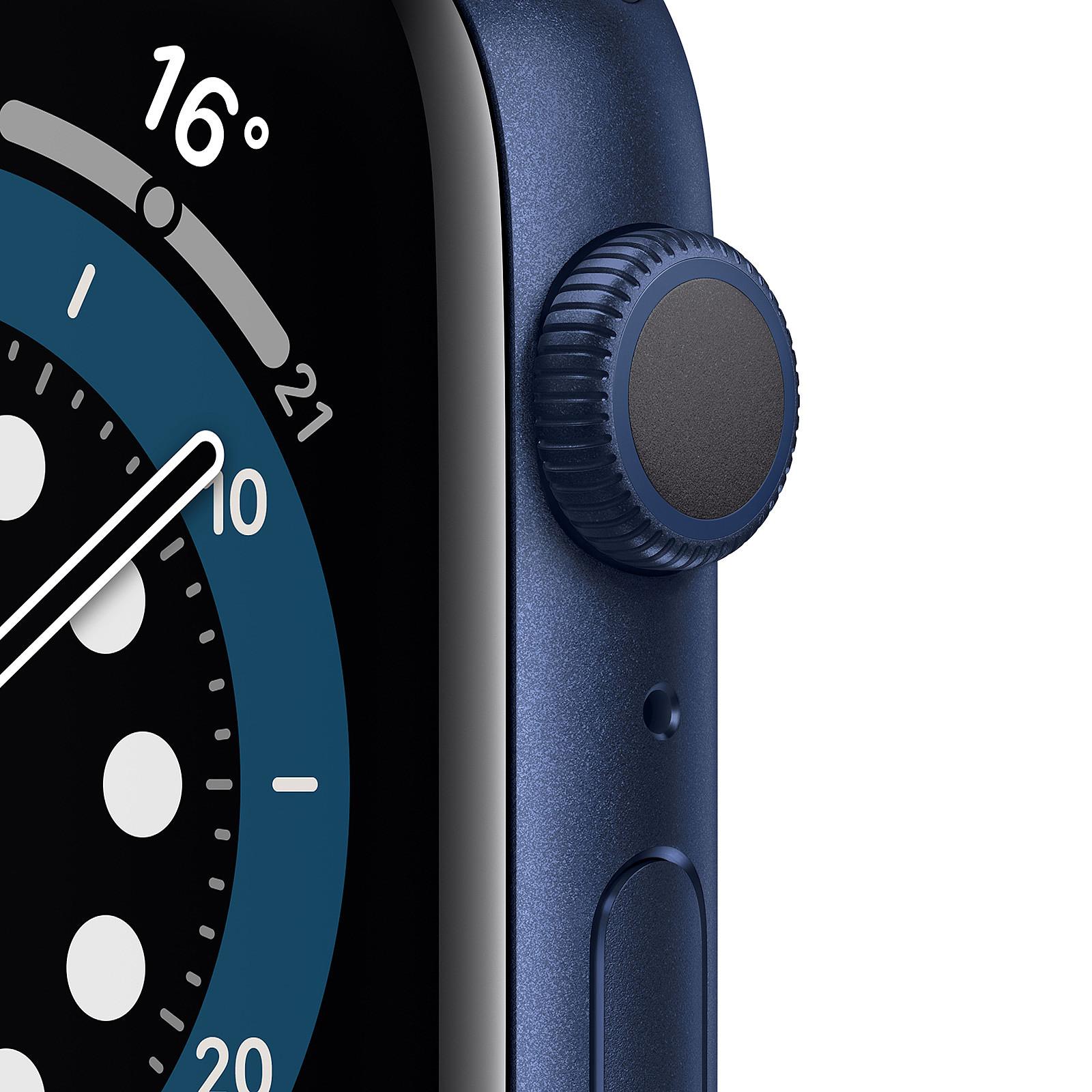 Apple Watch Series 6 GPS Aluminium Blue Bracelet Sport Deep Navy 44 mm - Smartwatch  Apple en LDLC.com