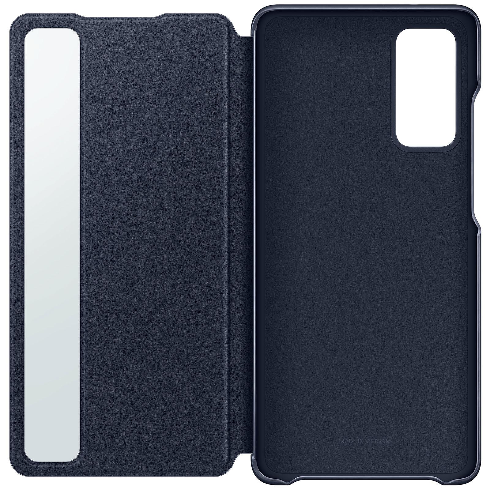 Samsung Clear View Cover Bleu Galaxy S20 Fan Edition
