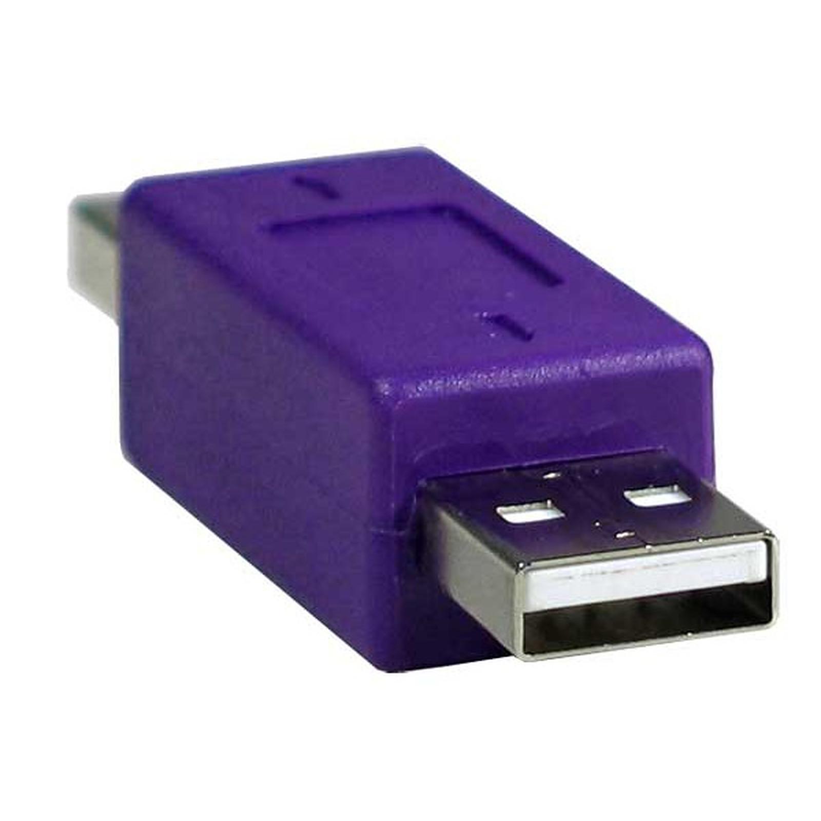 Adaptateur USB 2.0 type A mâle / A mâle