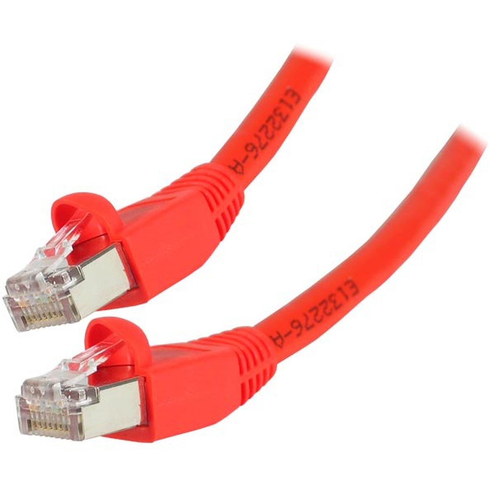 Câble RJ45 catégorie 6 S/FTP 1 m (Rouge)