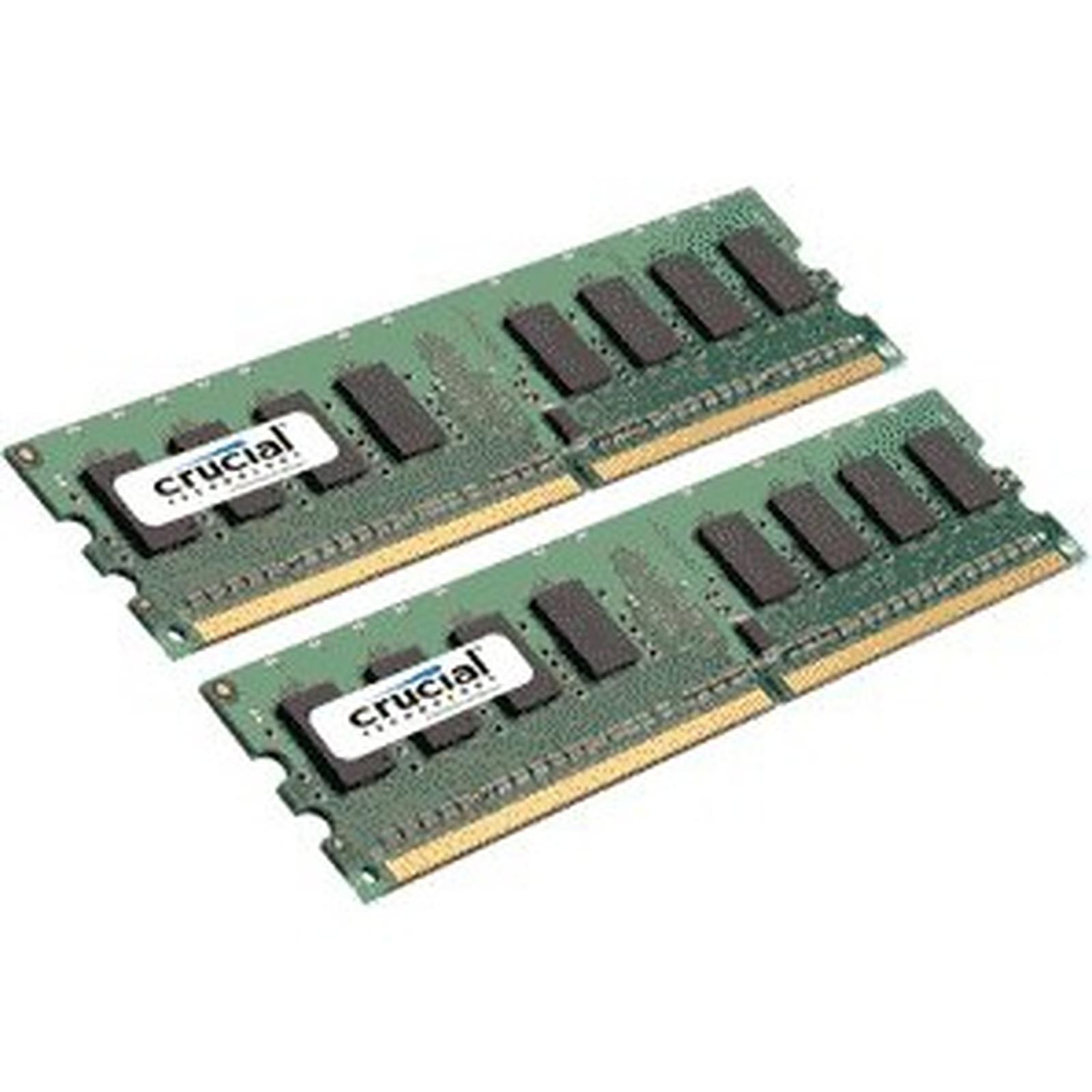 Crucial DDR2 2 Go (2x 1 Go) 667 MHz