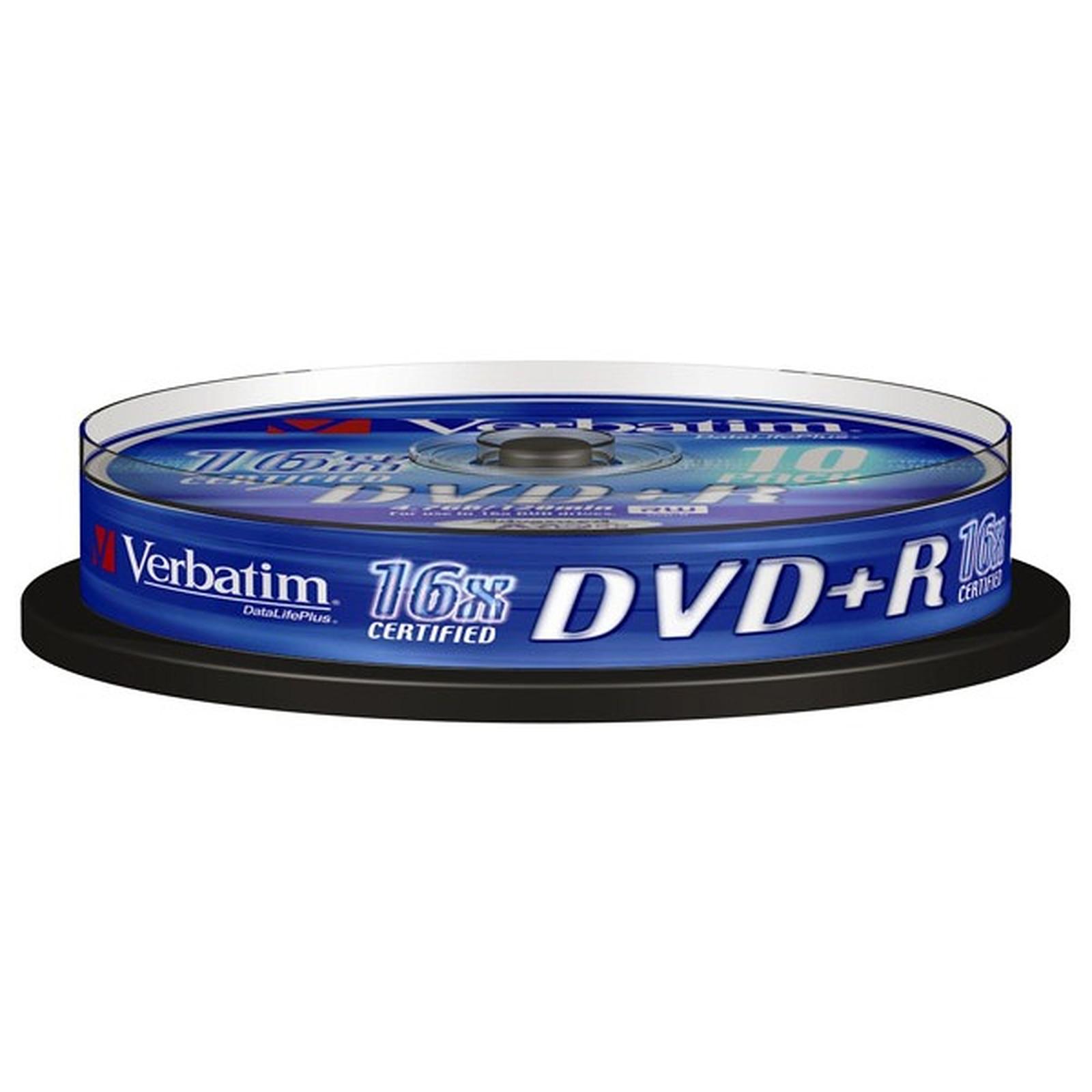 Verbatim DVD+R 4.7 Go 16x (par 10, spindle)