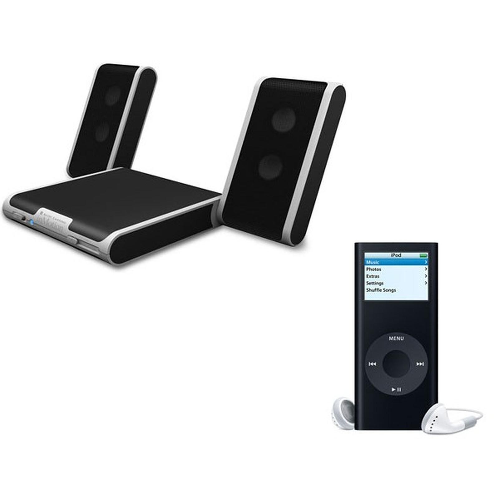 Apple iPod nano 8 Go (coloris noir) + Altec Lansing inMotion iM4