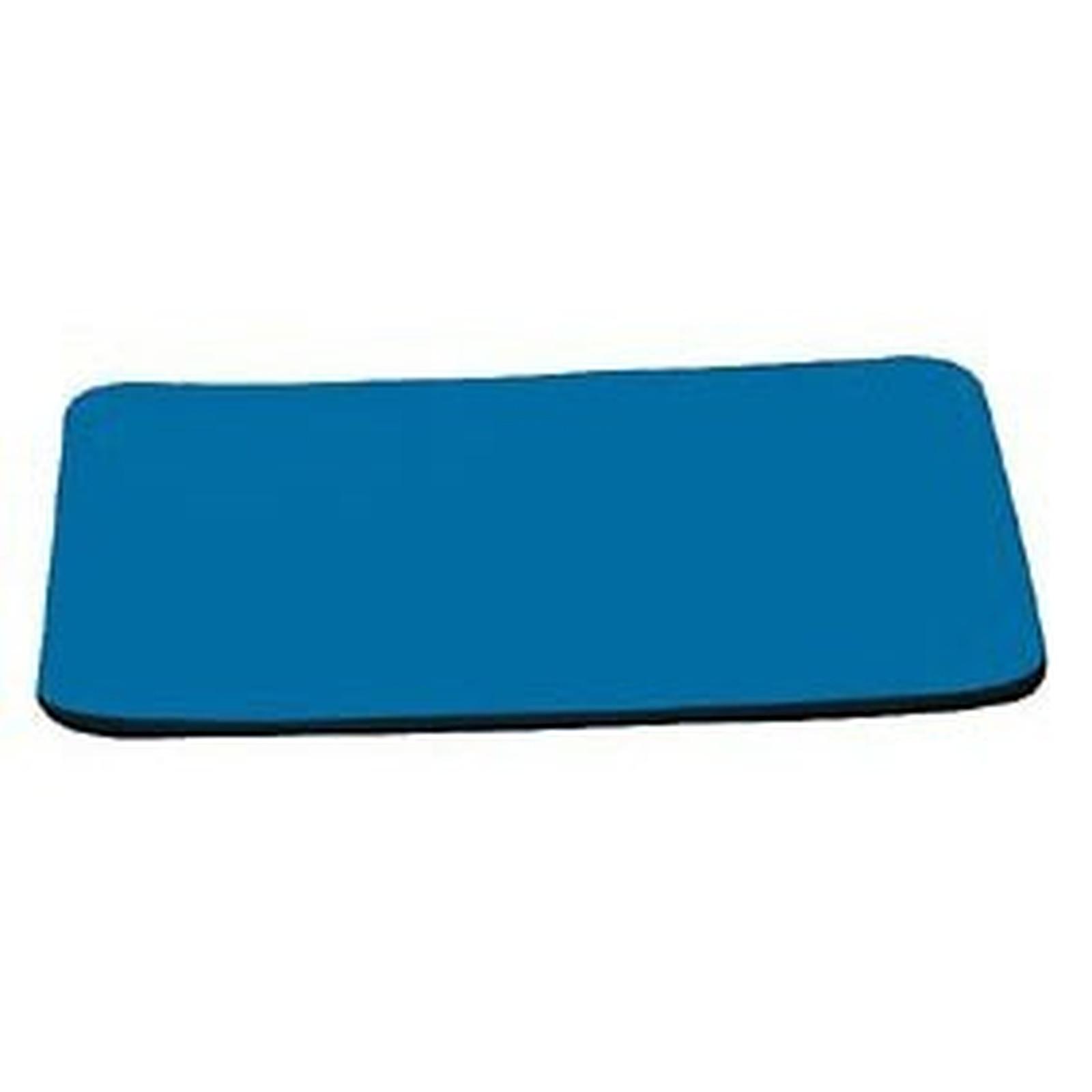Tapis de souris simple (coloris bleu)