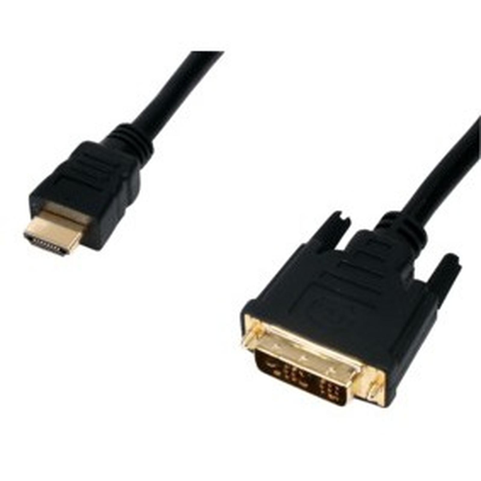 Câble DVI-D Single Link mâle / HDMI mâle (10 mètres) plaqué or