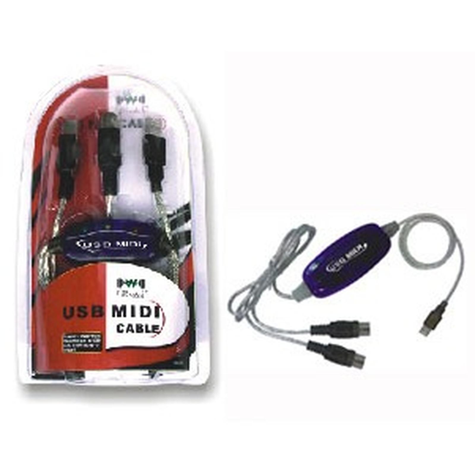 Câble MIDI USB
