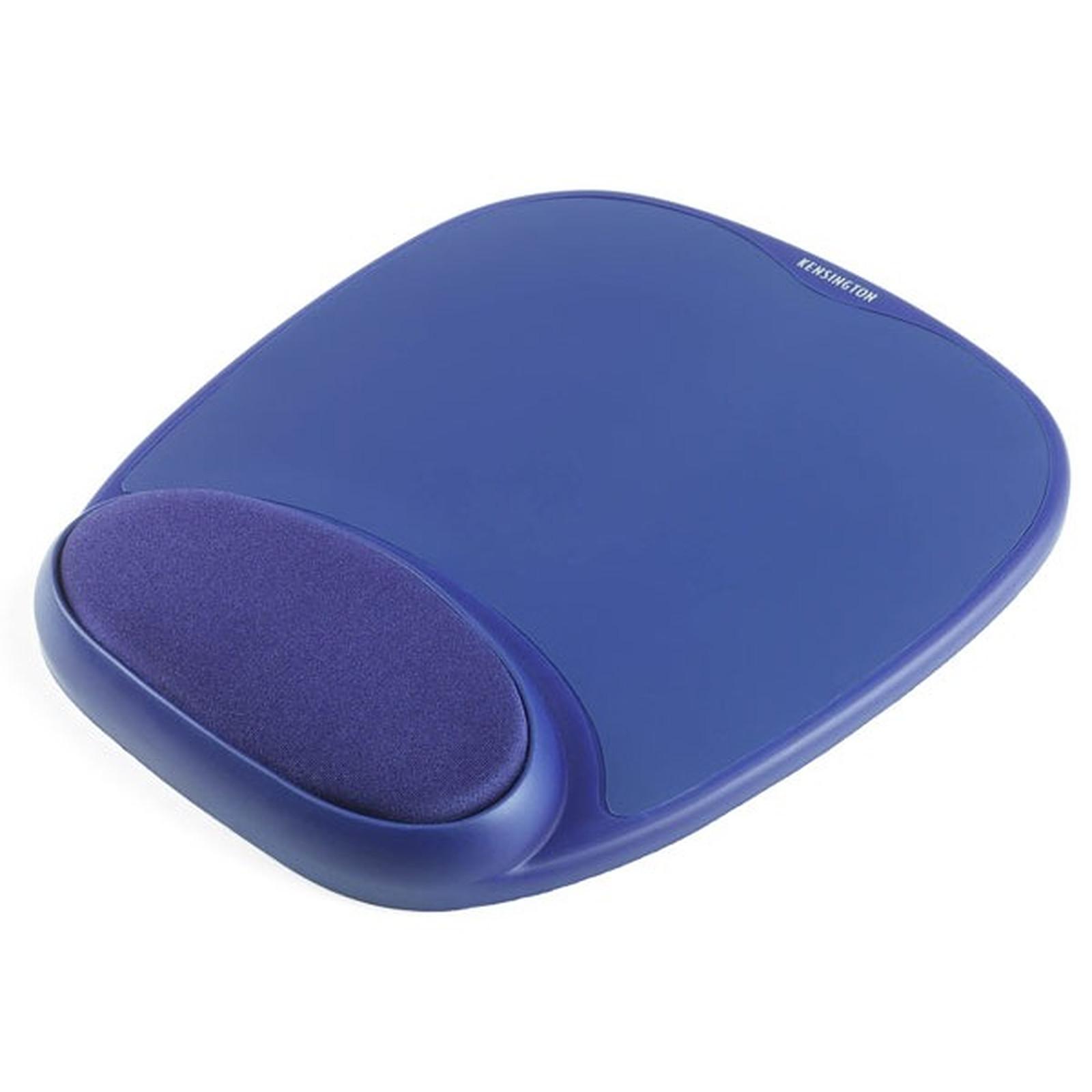 Kensington tapis de souris avec repose-poignet en mousse (coloris bleu)