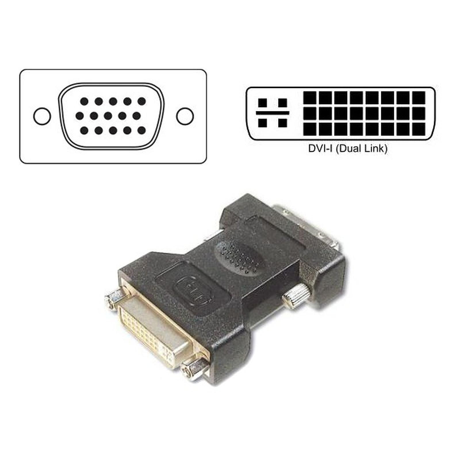 Adaptador VGA Macho a DVI-I Hembra
