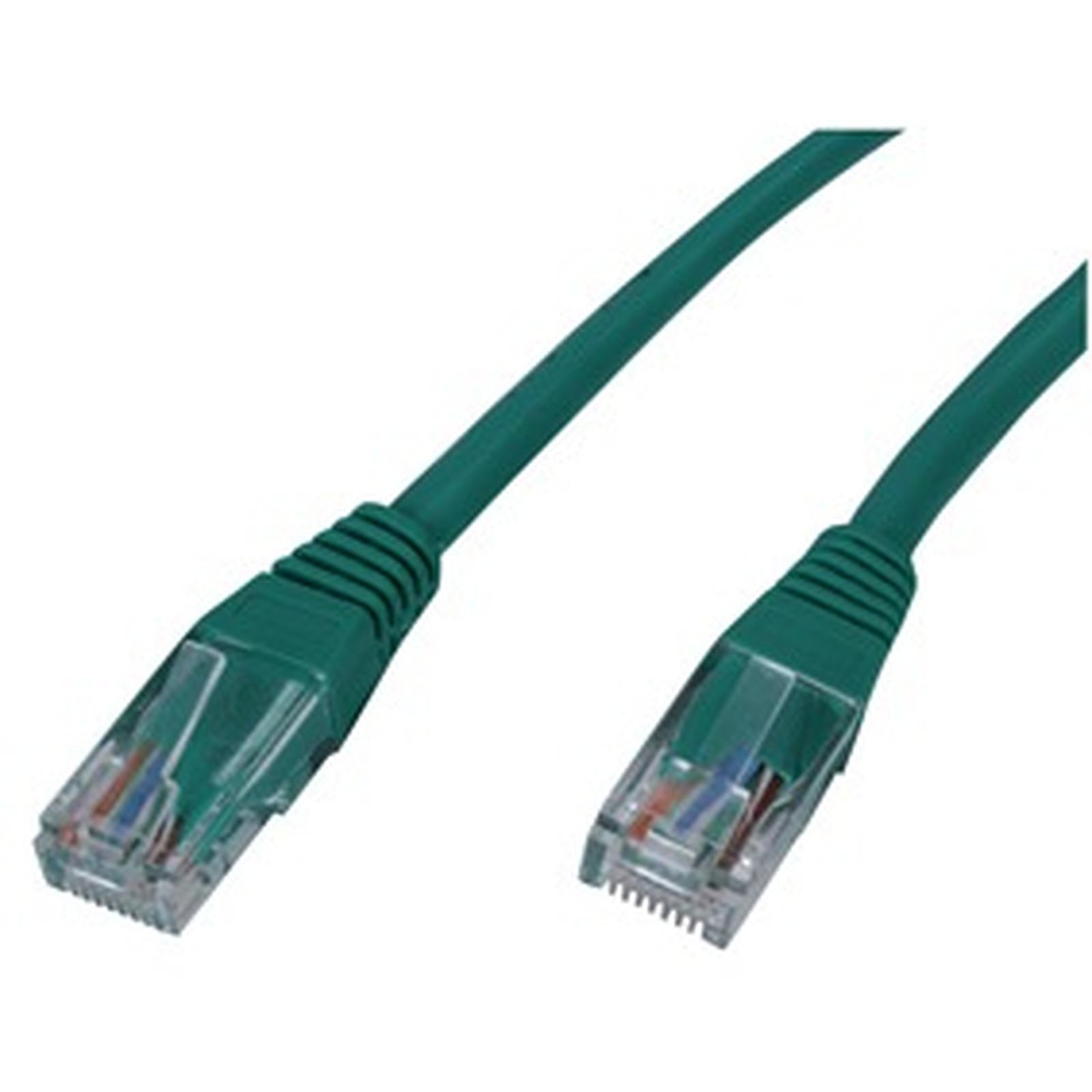 Cable RJ45 de categoría 5e U/UTP 0,5 m (verde)