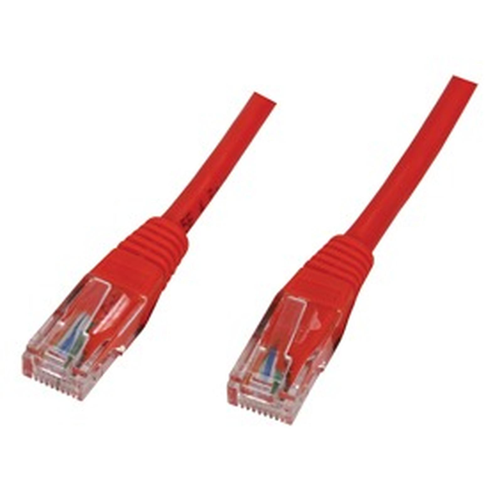 Câble RJ45 catégorie 5e U/UTP 1 m (Rouge)