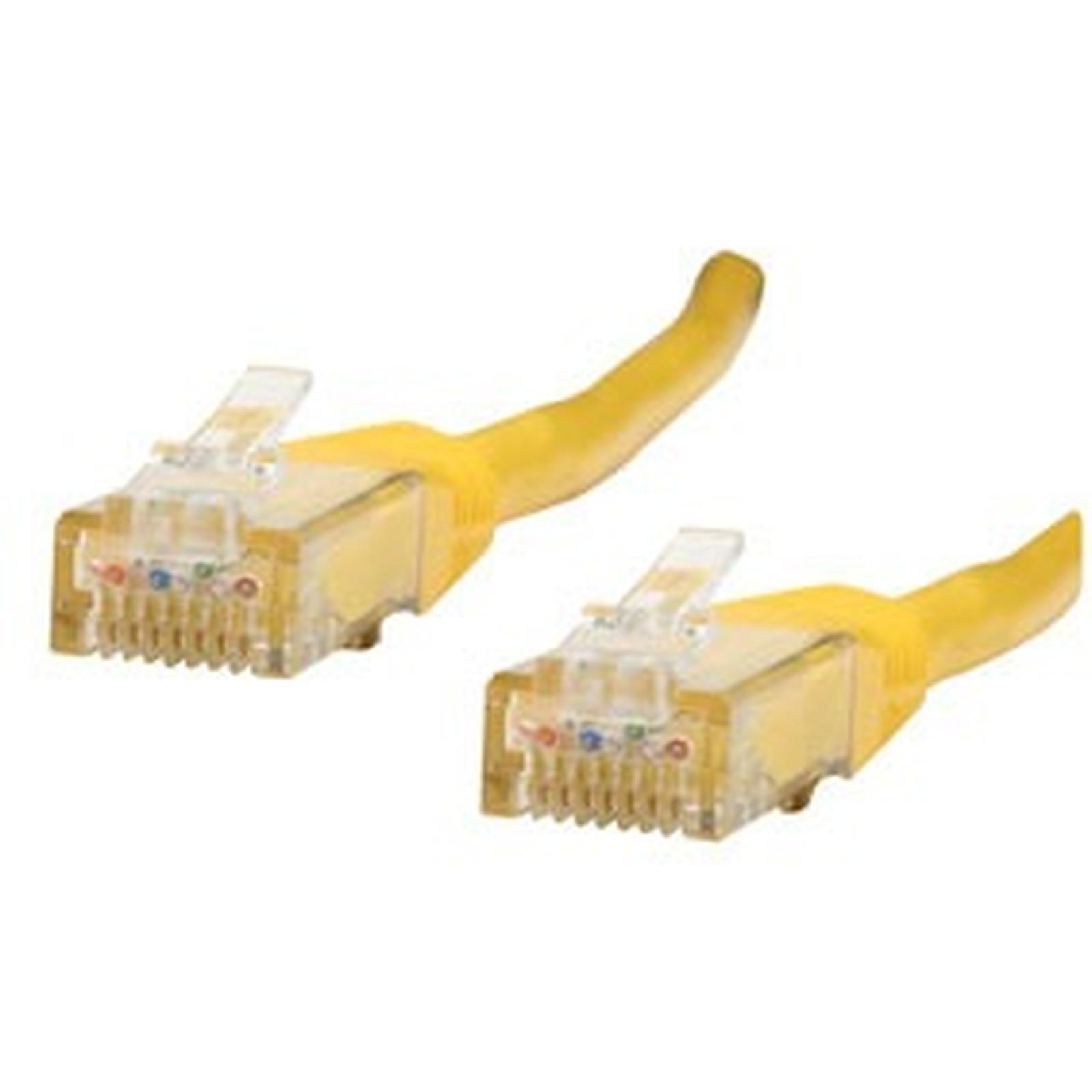 Cable RJ45 de categoría 6 U/UTP 2 m (amarillo)
