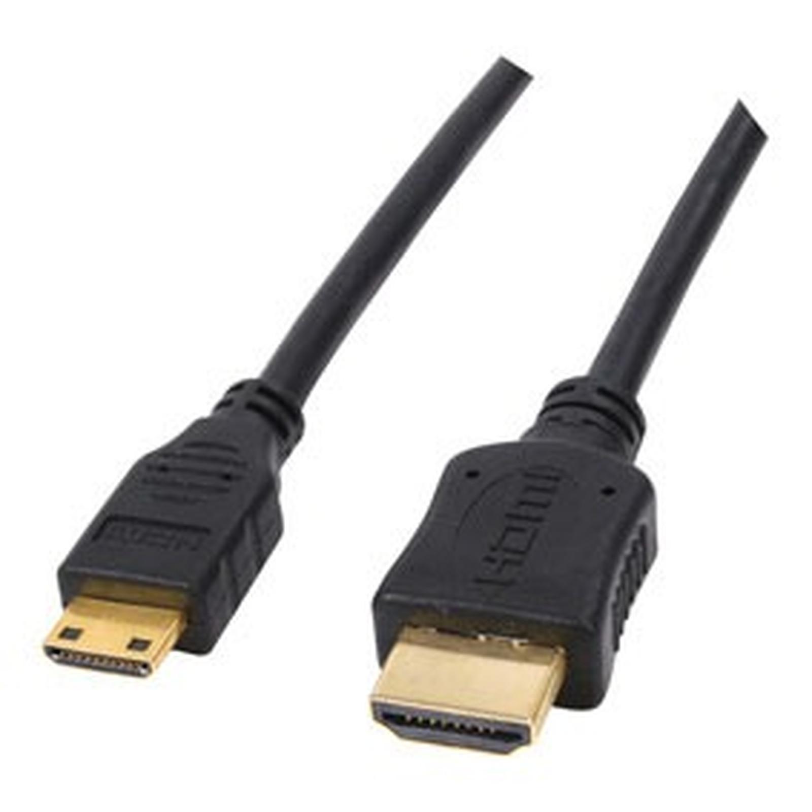 Câble HDMI mâle / mini HDMI mâle (plaqué or) - (5 mètres)