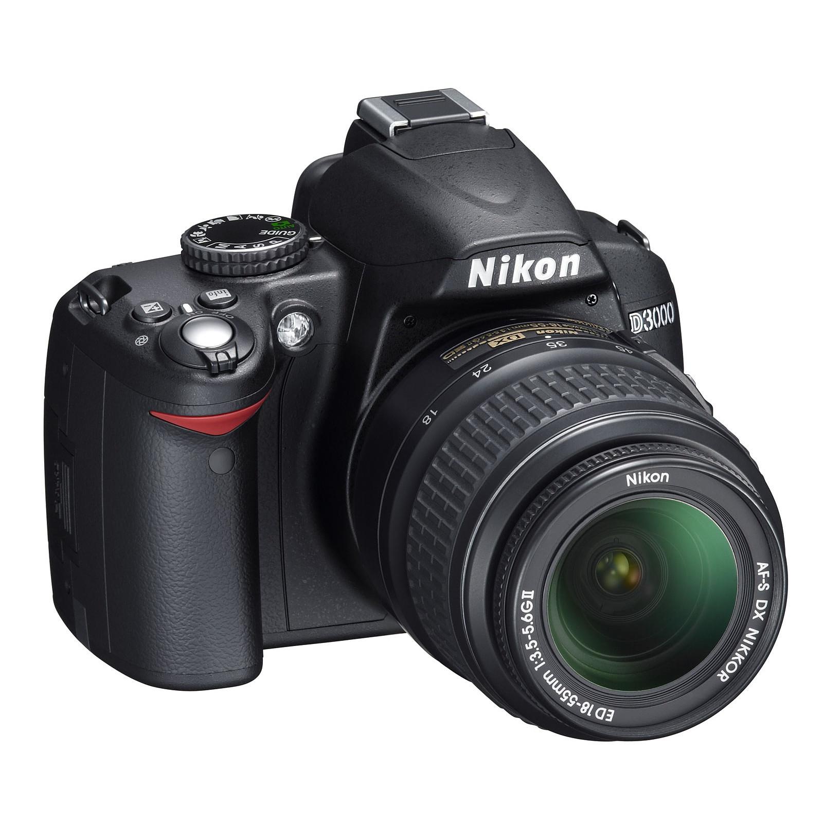 nikon d3000 objectif vr dx 18 55 mm f 3 5 5 6g appareil photo rh ldlc com Nikon D4000 Nikon D3200