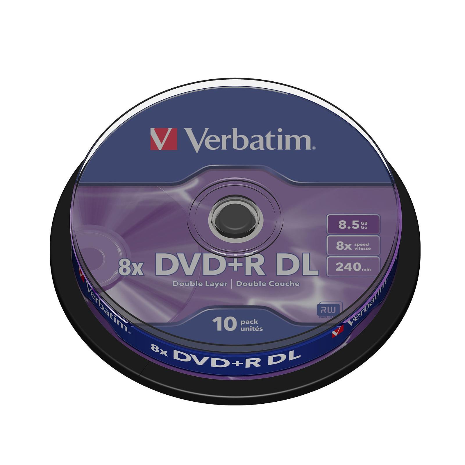 Verbatim DVD+R DL 8.5 Go 8x (par 10, spindle)