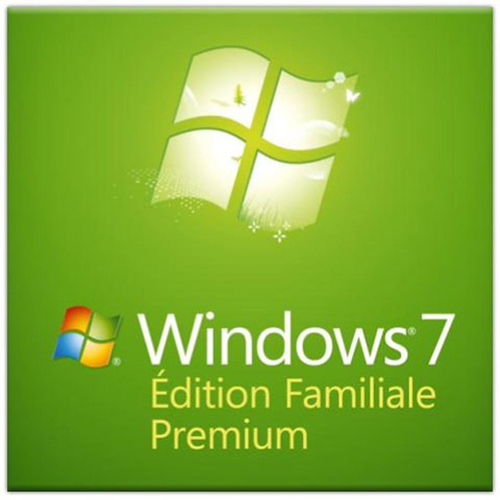 Microsoft Windows 7 Édition Familiale Premium OEM 32 bits