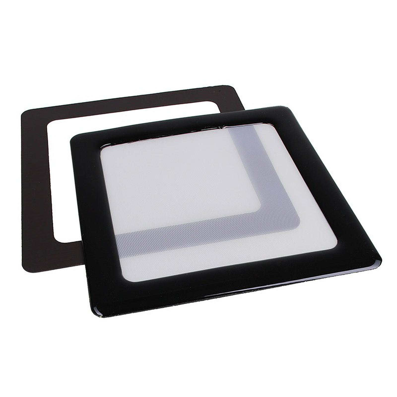 Filtre à poussière magnétique carré 80 mm (cadre noir, filtre blanc)