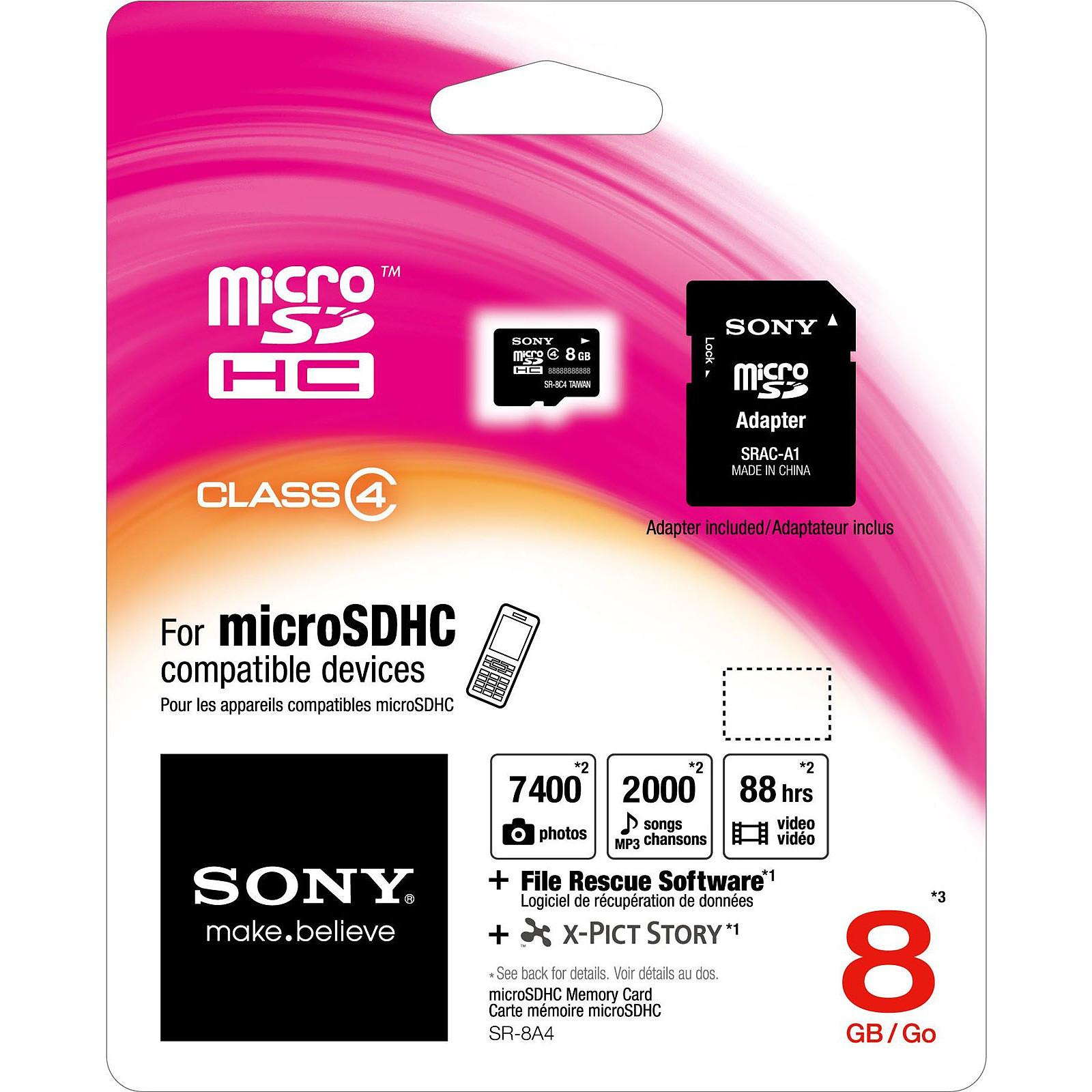 Sony microSD HC 8 Go