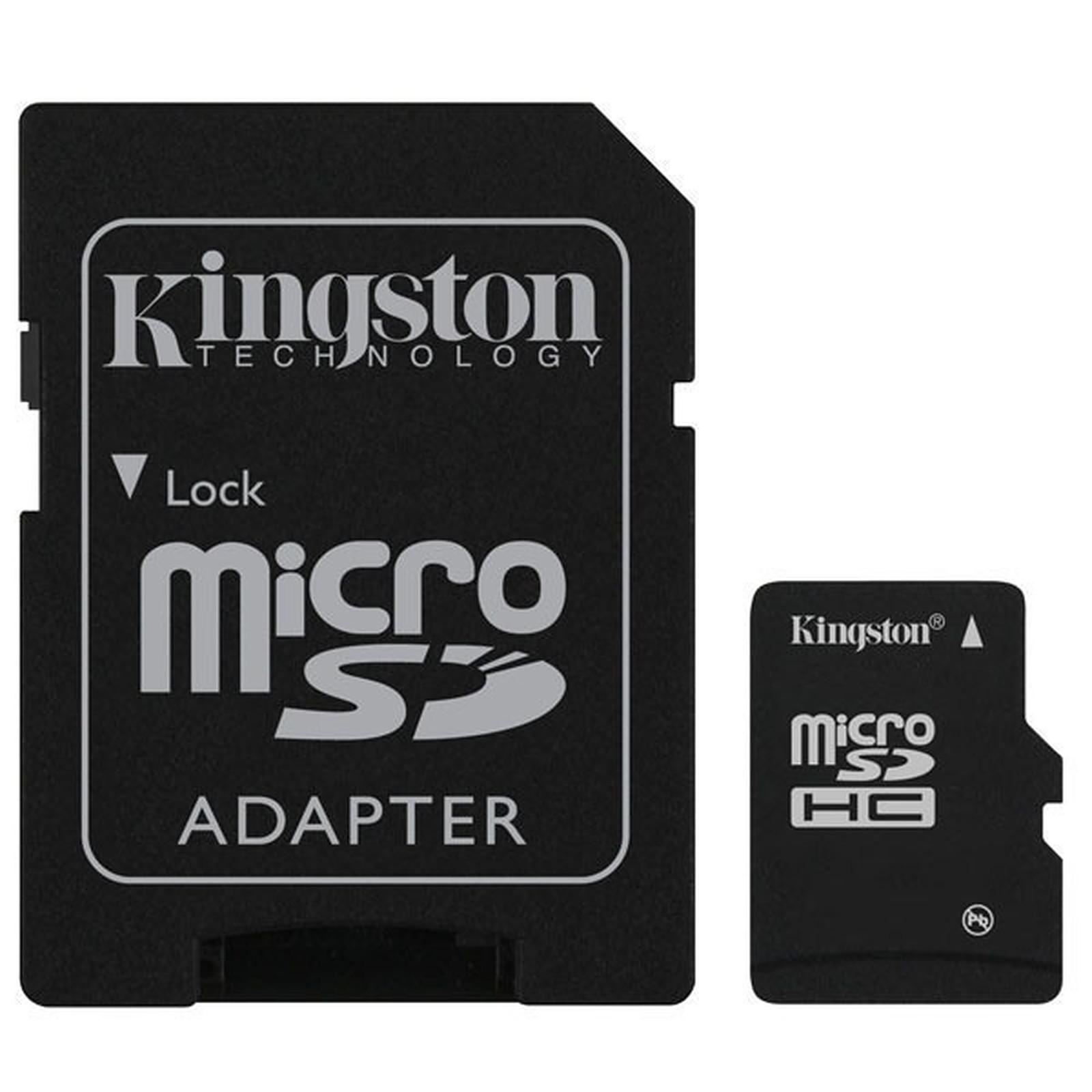 Kingston microSD 16 Go High Capacity Class 10 + adaptateur SDHC