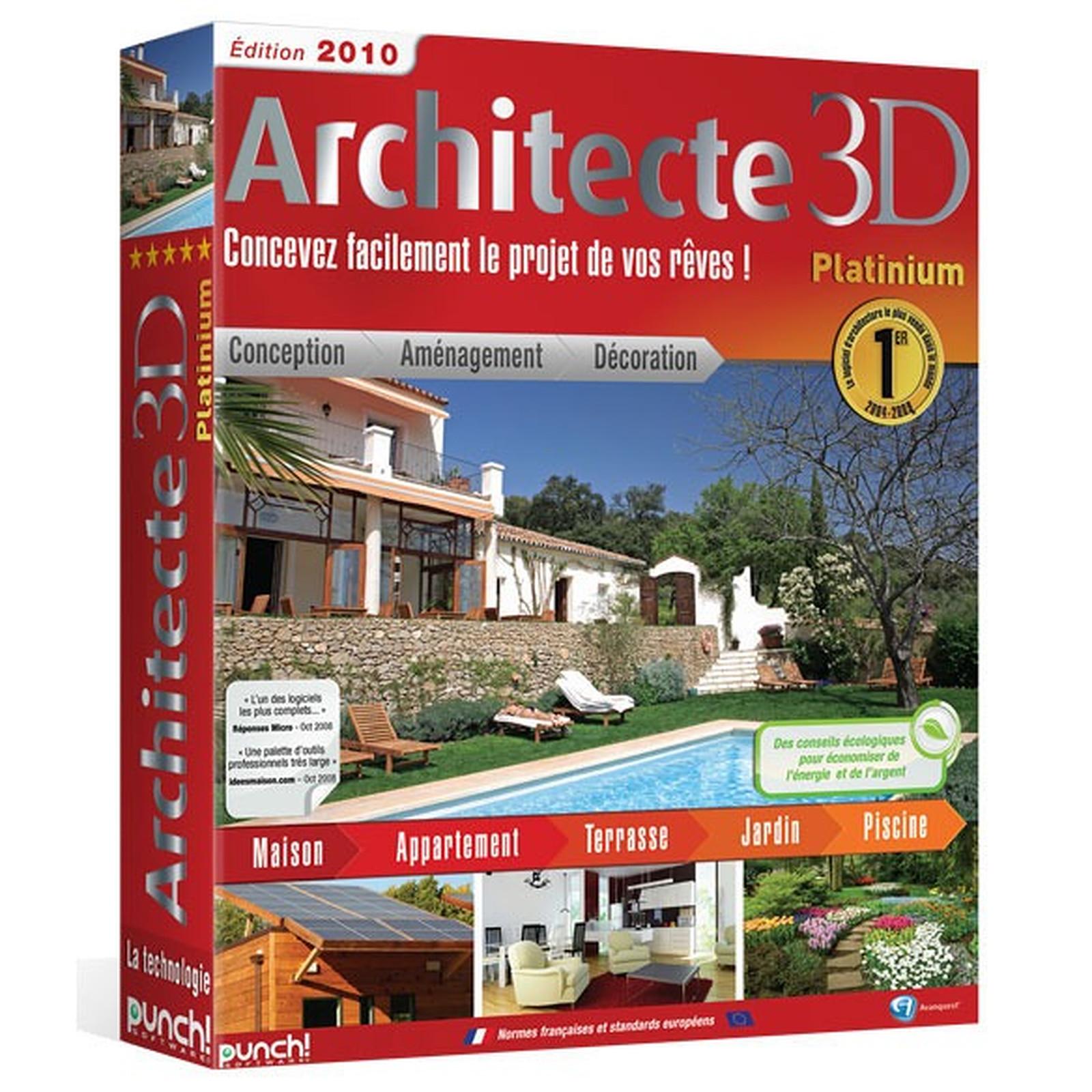 Architecte 3d Platinum 2010 Avanquest France Sur Ldlc Com