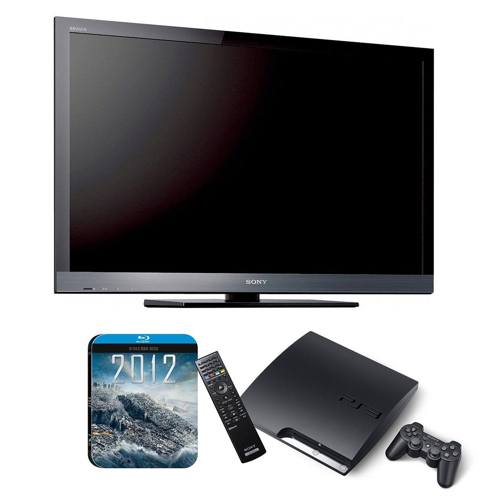 "Sony BRAVIA KDL-32EX600 + Playstation 3 Slim +télécommande + Film ""2012"""