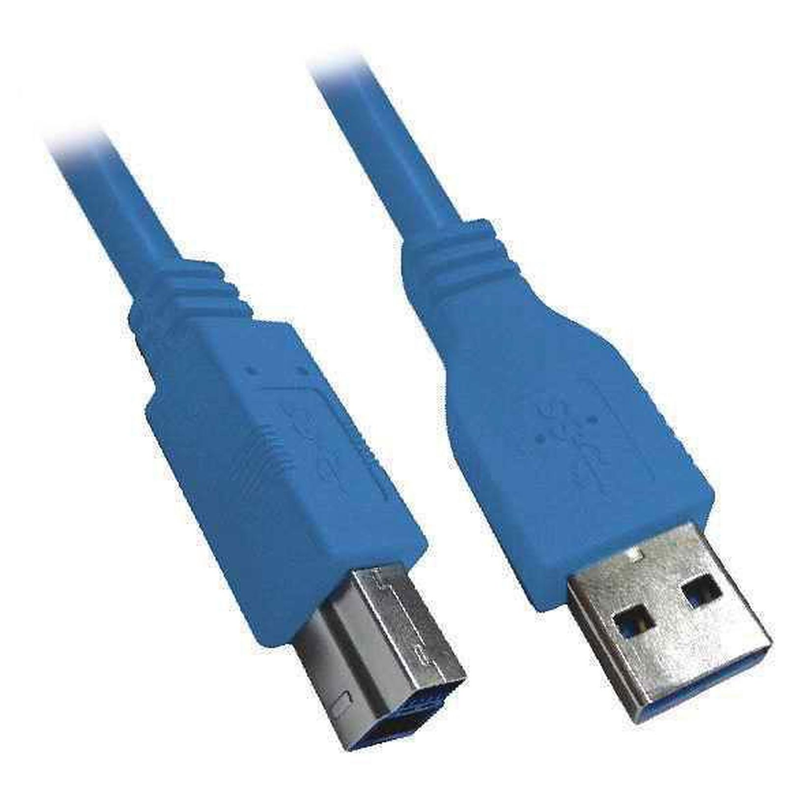 Câble USB 3.0 Type AB (Mâle/Mâle) - 1 m