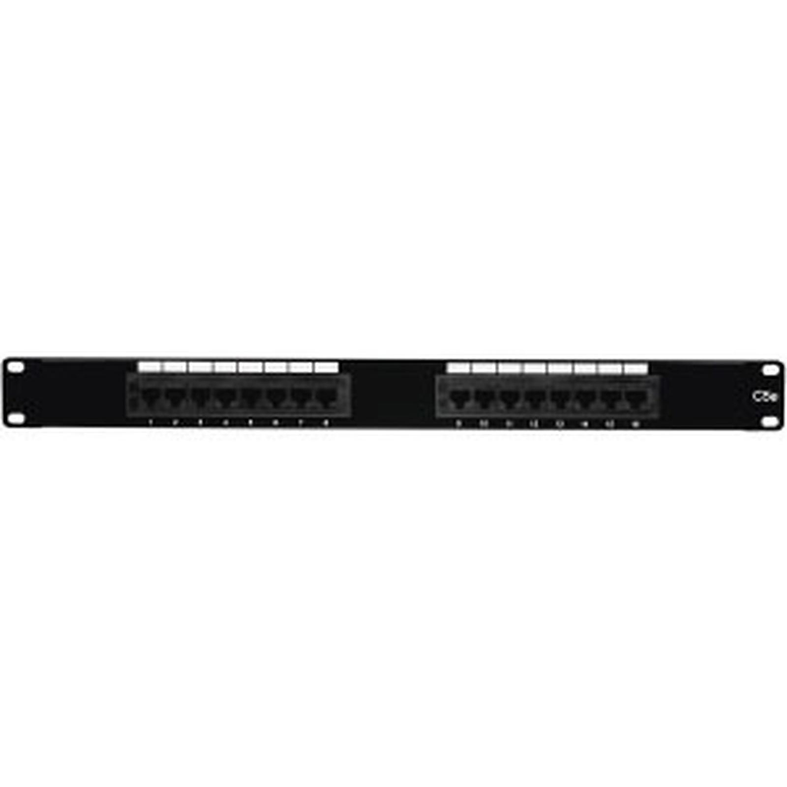 Panel de conexiones de 16 puertos categoría 5e UTP para cuadro / armario / ranura de 19''