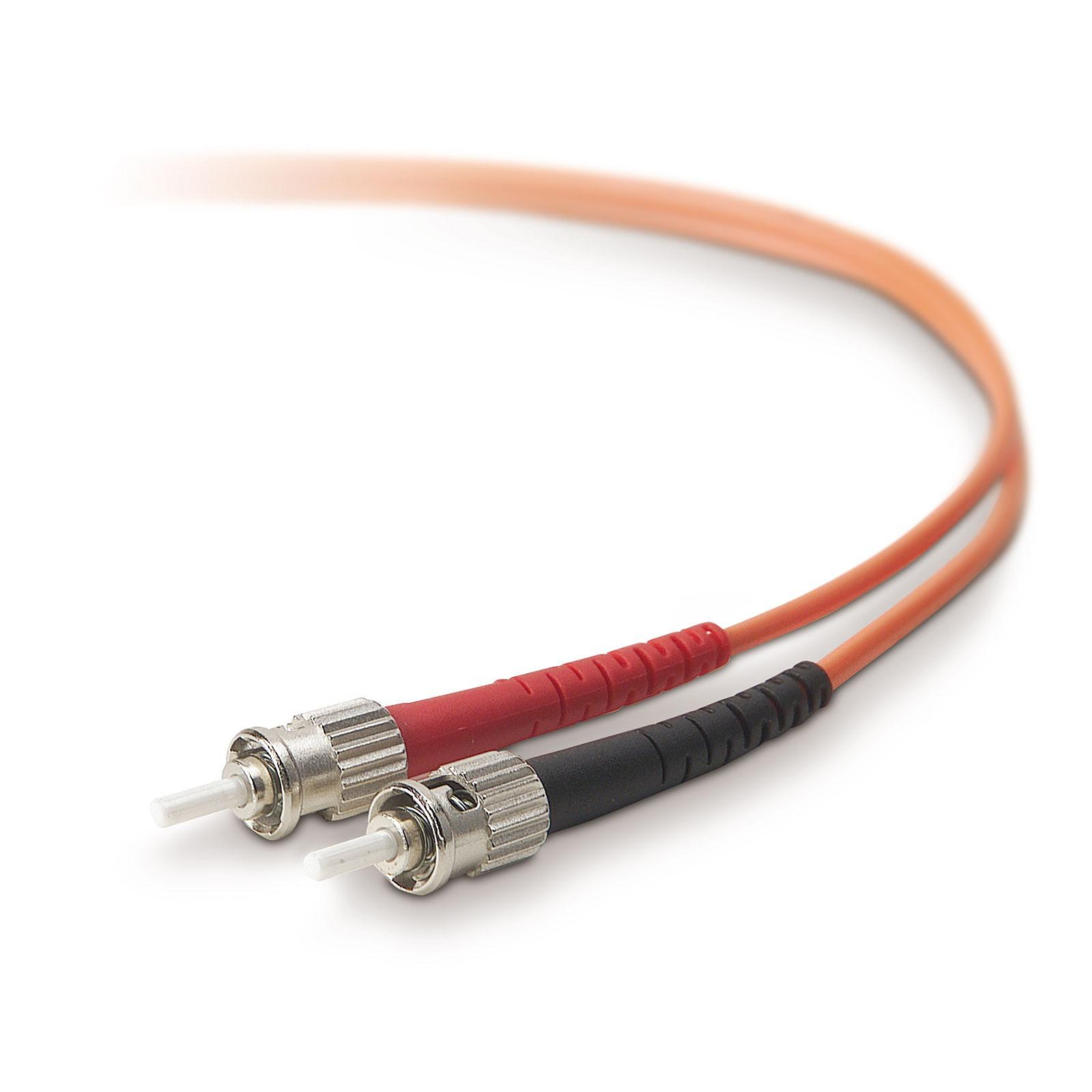 Belkin Câble fibre optique multimode 62.5/125 ST/ST (2 mètres)
