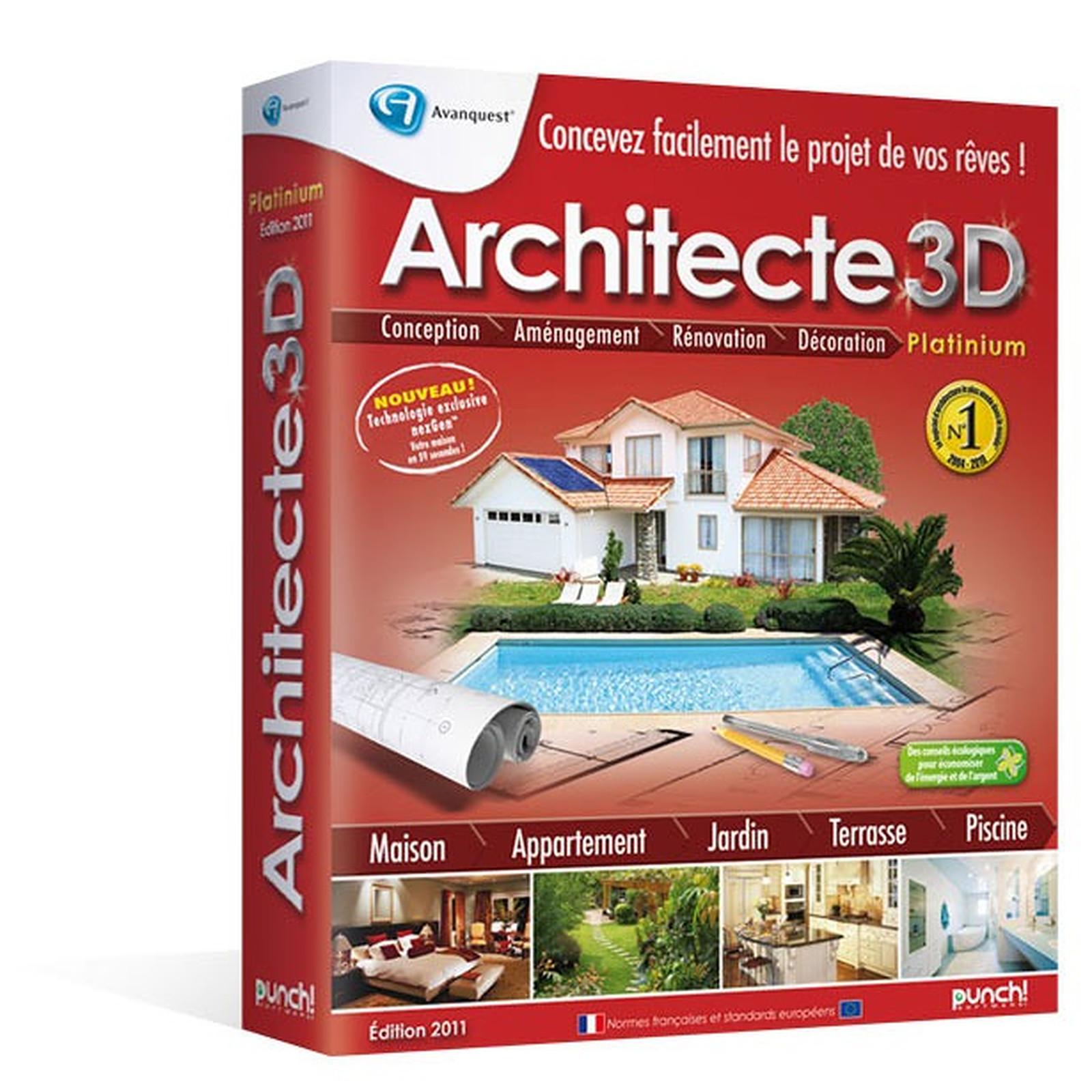 Architecte 3d Nexgen 2011 Platinium Avanquest France Sur