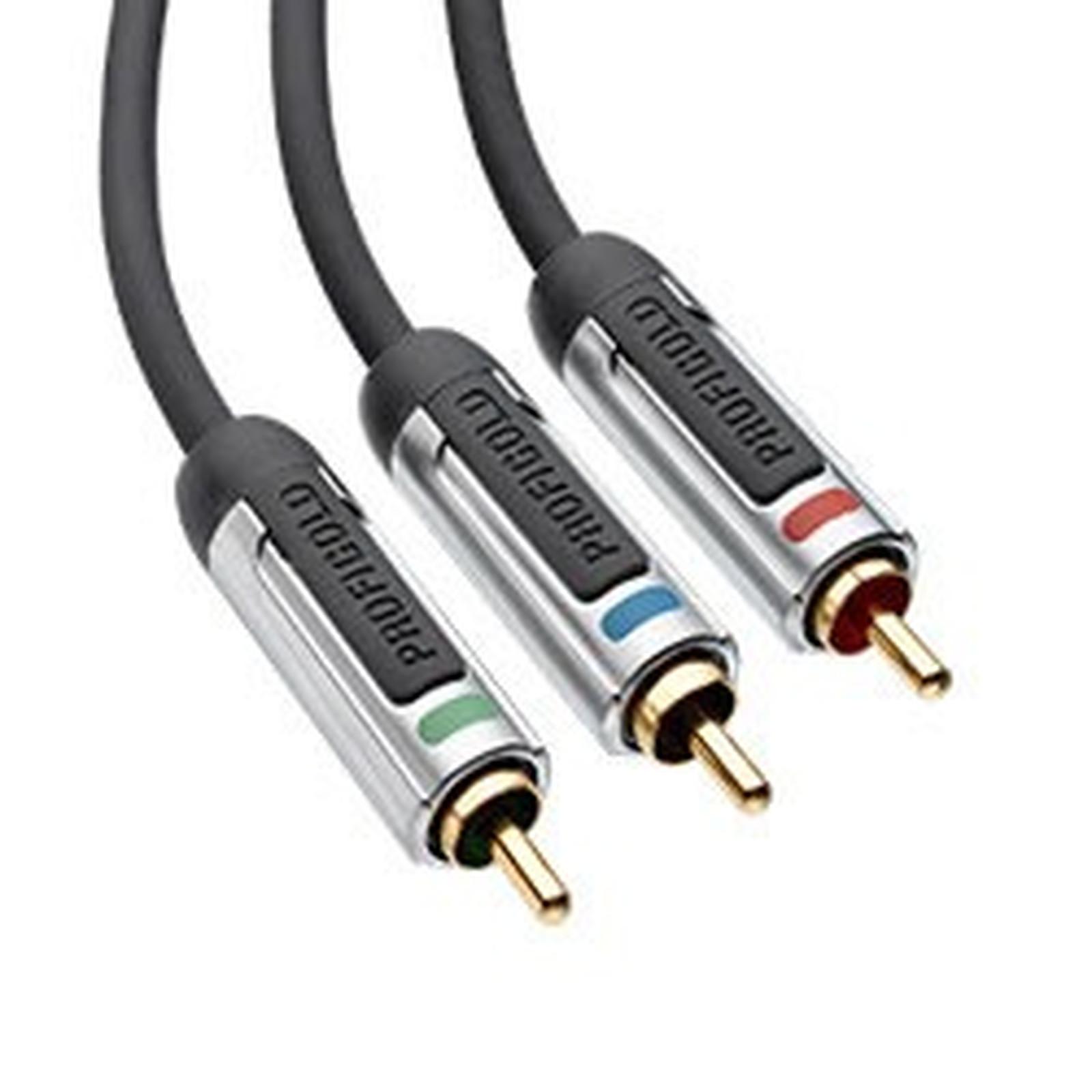 Profigold Câble YUV 3x RCA Mâle/Mâle